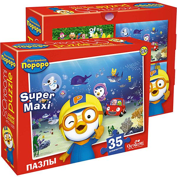 Купить Пазл Пингвиненок Пороро: Подводный мир , 35 MAXI деталей, Origami, Россия, Унисекс