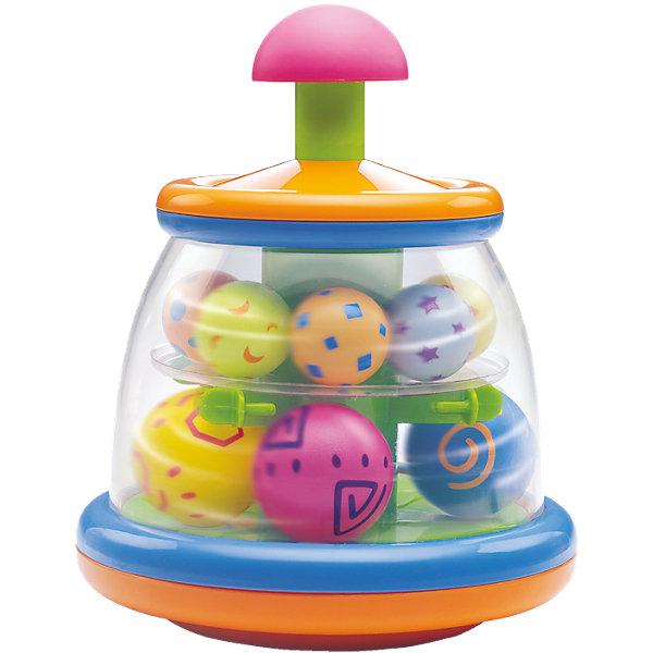 Игрушка Юла с шариками, BkidsЮлы, неваляшки<br>Игрушка Юла с шариками, Bkids (Б Кидс) - новая версия классической детской игрушки. Пластиковая юла имеет несколько ярких шариков внутри. Во время игры шарики весело крутятся, издавая интересные звуки. Юла полностью устойчива, благодаря чему с ней сможет разобраться даже самый маленький ребенок.  Порадуйте своего малыша забавной игрушкой!<br><br>Дополнительная информация:<br>Материал: пластик<br>Размер упаковки: 17,8х17,8х22,2 см<br><br>Игрушку Юла с шариками, Bkids (Б Кидс) вы можете купить в нашем интернет-магазине.<br>Ширина мм: 245; Глубина мм: 251; Высота мм: 185; Вес г: 668; Возраст от месяцев: 6; Возраст до месяцев: 24; Пол: Унисекс; Возраст: Детский; SKU: 4159347;