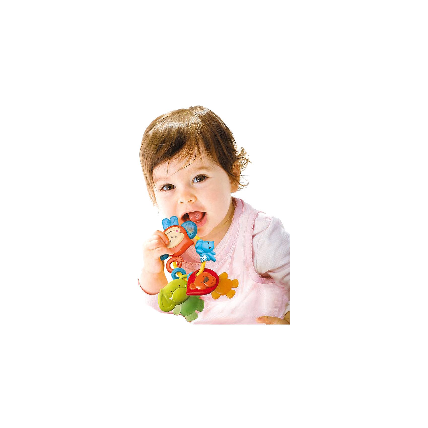 Игрушка Листочки, BkidsИгрушка Листочки, Bkids (Б Кидс) представляет собой три прорезывателя, закрепленных на кольце. Прорезыватели сделаны в виде забавных животных: слоника, обезьянки и  львенка. Яркие игрушки понравятся ребенку и помогут начать изучение цветов. Игрушка изготовлена из безопасных материалов, поэтому она способна помочь ребенку облегчить неприятные ощущения при прорезывании зубов.<br><br>Дополнительная информация:<br>Размер упаковки: 10,16х10,16 см<br><br>Вы можете приобрести игрушку Листочки, Bkids( Б Кидс) в нашем интернет-магазине.<br><br>Ширина мм: 176<br>Глубина мм: 121<br>Высота мм: 78<br>Вес г: 101<br>Возраст от месяцев: 3<br>Возраст до месяцев: 18<br>Пол: Унисекс<br>Возраст: Детский<br>SKU: 4159348