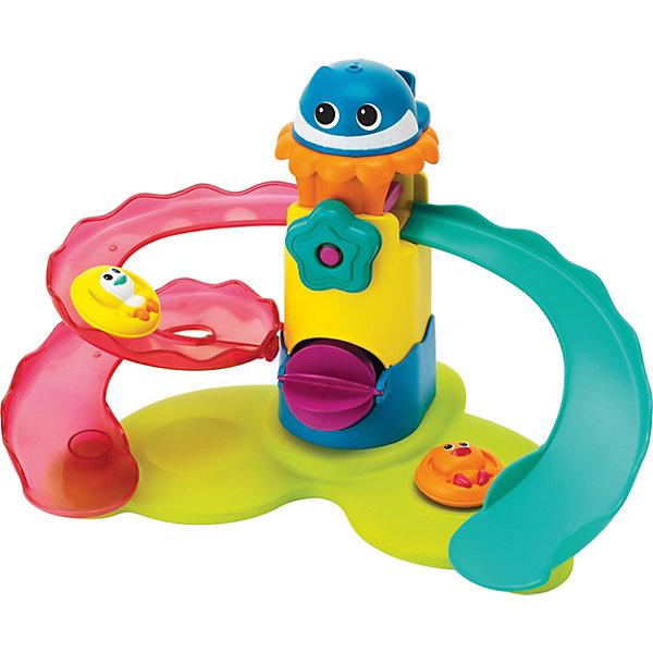 Набор для купания Аквапарк, BkidsИгрушки для ванной<br>Характеристики:<br><br>• игровой набор для купания;<br>• водная горка с вращающимися лопастями;<br>• фигурки питомцев, спускающихся с горки;<br>• малыш наливает воду в желоб, затем водные потоки разливаются по горкам;<br>• горка держится на поверхности воды;<br>• материал: пластик;<br>• размер упаковки: 30,4х8,9х25,4 см.<br><br>Превратить процесс купания в веселую игру таким образом, что малыш и не заметил, как стал чистюлей, как ему вымыли голову и ополоснули его нежное тело от пушистой пены. Водные горки выполнены в виде 2-х желобов, по которым стекают водные потоки и уносят с собой водоплавающих птенцов. Аквапарк держится на поверхности воды и не уходит под воду. <br><br>Набор для купания Аквапарк, Bkids можно купить в нашем интернет-магазине.<br>Ширина мм: 311; Глубина мм: 256; Высота мм: 93; Вес г: 525; Возраст от месяцев: 12; Возраст до месяцев: 36; Пол: Унисекс; Возраст: Детский; SKU: 4159349;