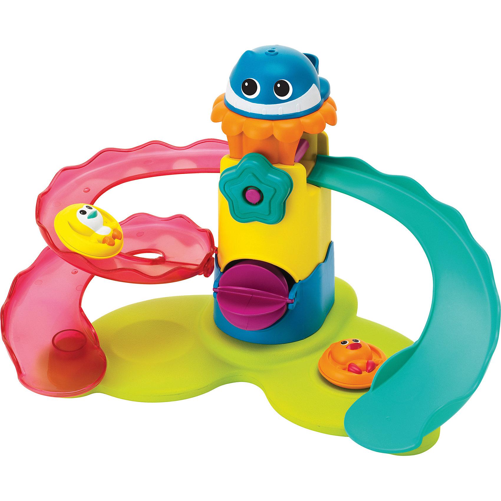 Набор для купания Аквапарк, BkidsИгрушки для ванной<br>Набор для купания Аквапарк, Bkids (Б Кидс) превратит каждое купание в веселую игру. Поставьте пингвиненка и утенка на верх горки, зачерпните воду ковшиком в виде кита и налейте сверху. При этом водяная мельница начнет крутиться, а зверюшки весело скатятся с горок. Кроме того, игрушка плавает на поверхности воды, что позволяет использовать ее во время купания.  Покатайте пингвиненка и утенка на крутых горках аквапарка!<br><br>Дополнительная информация:<br>Размер упаковки: 30,4х8,9х25,4 см<br><br>Набор для купания Аквапарк, Bkids (Б Кидс) вы можете приобрести в нашем интернет-магазине.<br><br>Ширина мм: 308<br>Глубина мм: 256<br>Высота мм: 96<br>Вес г: 528<br>Возраст от месяцев: 12<br>Возраст до месяцев: 36<br>Пол: Унисекс<br>Возраст: Детский<br>SKU: 4159349