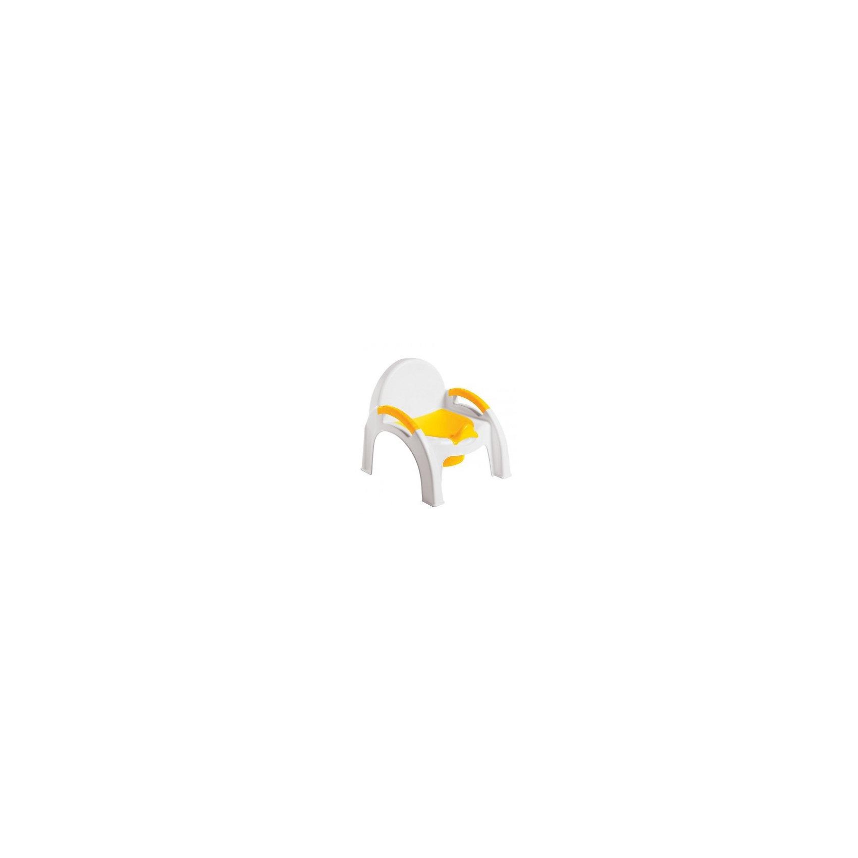 Горшок- Стульчик Пластишка, желтый