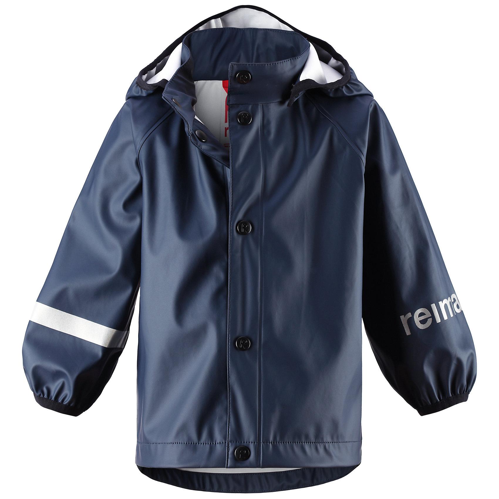 Куртка-дождевик для мальчика ReimaКуртка-дождевик для мальчика от финской марки Reima.<br>Что может быть веселее чем попрыгать под дождем? Дождевик Lampi обеспечит ребенку сухие плечи.<br><br>* Эластичный и износостойкий материал<br>* Запаянные швы<br>* Съемный капюшон<br>* Эластичные манжеты<br><br>Состав:<br>100% Полиэстер<br><br>Ширина мм: 356<br>Глубина мм: 10<br>Высота мм: 245<br>Вес г: 519<br>Цвет: синий<br>Возраст от месяцев: 6<br>Возраст до месяцев: 9<br>Пол: Мужской<br>Возраст: Детский<br>Размер: 74,86,92,98,80<br>SKU: 4161278