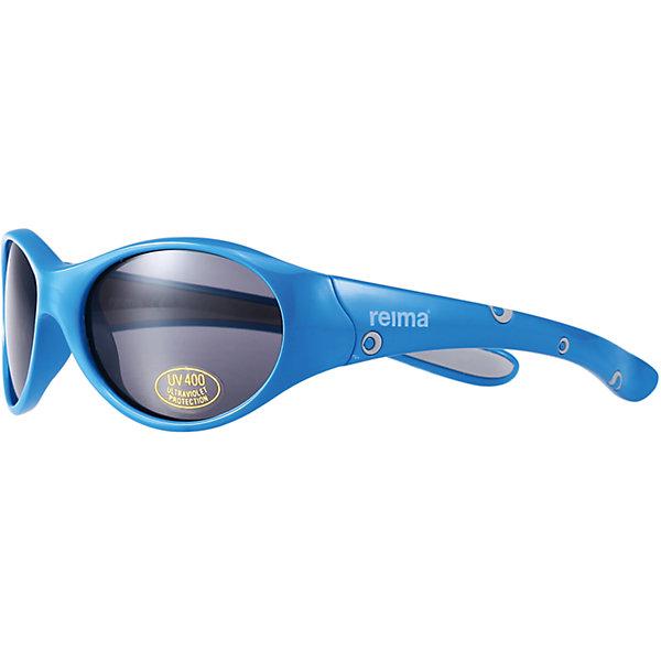 Солнцезащитные очки ReimaАксессуары<br>Солнцезащитные очки от финской марки Reima.<br>Состав:<br>Пластмасса<br><br>Ширина мм: 170<br>Глубина мм: 157<br>Высота мм: 67<br>Вес г: 117<br>Цвет: голубой<br>Возраст от месяцев: 48<br>Возраст до месяцев: 72<br>Пол: Мужской<br>Возраст: Детский<br>Размер: one size<br>SKU: 4161532