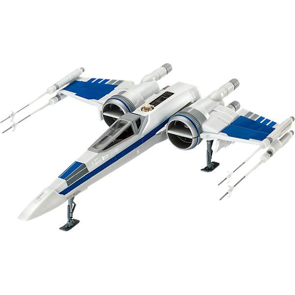 Сборная модель Звездные войны «Истребитель X-Wing Сопротивления» (1:50), EasykitЗвездные войны Игры и Пазлы<br>Характеристики товара:<br><br>• возраст: от 6 лет;<br>• цвет: бело-голубой;<br>• масштаб: 1:50;<br>• количество деталей: 55 шт;<br>• материал: пластик; <br>• клей и краски в комплект не входят;<br>• габариты модели: 25,1х22,4 см;<br>• бренд, страна бренда: Revell (Ревел),Германия;<br>• страна-изготовитель: Китай.<br><br>Сборная модель «Звездные войны «Истребитель X-Wing Сопротивления» поможет вам и вашему ребенку придумать увлекательное занятие на долгое время и очутится в мире фантастических приключений космоса. Модель является точной копией космического корабля из фильма Звёздные войны: Войны клонов. Корпус космолета имеет интересный дизайн и очень хорошо детализирован.<br><br>Набор включает в себя 55 пластиковых элементов, а также фигурку одного пилота в кабине. Все детали предварительно окрашены, а сама модель собирается без помощи клея, на защелках. Готовый истребитель можно установить на подставку, входящую в набор, и он украсит стол или книжную полку ребенка. <br><br>Процесс сборки развивает интеллектуальные и инструментальные способности, воображение и конструктивное мышление, а также прививает практические навыки работы со схемами и чертежами. <br><br>Сборную модель «Звездные войны «Истребитель X-Wing Сопротивления»», 55 дет., Revell (Ревел) можно купить в нашем интернет-магазине.<br>Ширина мм: 371; Глубина мм: 240; Высота мм: 79; Вес г: 404; Возраст от месяцев: 96; Возраст до месяцев: 156; Пол: Мужской; Возраст: Детский; SKU: 4161720;