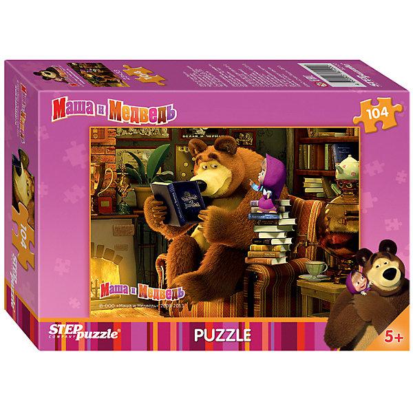 Пазл Маша и Медведь, 104 детали, Step PuzzleМаша и Медведь<br>Пазл Маша и Медведь, 104 детали, Step Puzzle (Степ Пазл) – это замечательный красочный пазл с изображением любимых героев.<br>Озорная Маша и добрый Медведь приглашают принять участие в волшебных приключениях. Подарите ребенку чудесный пазл Маша и Медведь, и он будет увлеченно подбирать детали, пока не составит яркую и интересную картинку, на которой уставший Медведь читает Маше сказку, а та все не собирается ложиться спать, требуя продолжения, несмотря на то, что они уже перечитали, целую стопку книг. Сборка пазла Маша и Медведь от Step Puzzle (Степ Пазл) подарит Вашему ребенку не только множество увлекательных вечеров, но и принесет пользу для развития. Координация, моторика, внимательность легко тренируются, пока ребенок увлеченно подбирает детали. Качественные фрагменты пазла отлично проклеены и идеально подходят один к другому, поэтому сборка пазла обеспечит малышу только положительные эмоции. Вы будете использовать этот пазл не один год, ведь благодаря качественной нарезке детали не расслаиваются даже после многократного использования.<br><br>Дополнительная информация:<br><br>- Количество деталей: 104<br>- Материал: картон<br>- Размер собранной картинки: 33х23 см.<br>- Особенно понравится поклонникам мультсериала Маша и Медведь<br>- Отличная проклейка<br>- Долгий срок службы<br>- Детали идеально подходят друг другу<br>- Яркий сюжет<br>- Упаковка: картонная коробка<br>- Размер упаковки: 140x196x36 мм.<br>- Вес: 106 гр.<br><br>Пазл Маша и Медведь, 104 детали, Step Puzzle (Степ Пазл) можно купить в нашем интернет-магазине.<br><br>Ширина мм: 20<br>Глубина мм: 14<br>Высота мм: 4<br>Вес г: 150<br>Возраст от месяцев: 60<br>Возраст до месяцев: 96<br>Пол: Унисекс<br>Возраст: Детский<br>Количество деталей: 104<br>SKU: 4162740