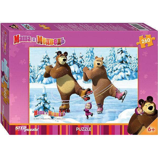 Пазл Маша и Медведь, 260 деталей, Step PuzzleМаша и Медведь<br>Пазл Маша и Медведь, 260 деталей, Step Puzzle (Степ Пазл) – это замечательный красочный пазл с изображением любимых героев.<br>Озорная Маша и добрый Медведь приглашают принять участие в волшебных приключениях. Подарите ребенку чудесный пазл Маша и Медведь, и малыш будет увлеченно подбирать детали, пока не составит яркую и интересную картинку, на которой неугомонная Маша и Медведь решили покататься на катке и пригласили подружку Медведя, а он сам почему-то пришел в роликовых коньках. Сборка пазла Маша и Медведь от Step Puzzle (Степ Пазл) подарит Вашему ребенку не только множество увлекательных вечеров, но и принесет пользу для развития. Координация, моторика, внимательность легко тренируются, пока ребенок увлеченно подбирает детали. Качественные фрагменты пазла отлично проклеены и идеально подходят один к другому, поэтому сборка пазла обеспечит малышу только положительные эмоции. Вы будете использовать этот пазл не один год, ведь благодаря качественной нарезке детали не расслаиваются даже после многократного использования.<br><br>Дополнительная информация:<br><br>- Количество деталей: 260<br>- Материал: картон<br>- Размер собранной картинки: 34,5х24 см.<br>- Особенно понравится поклонникам мультсериала Маша и Медведь<br>- Отличная проклейка<br>- Долгий срок службы<br>- Детали идеально подходят друг другу<br>- Яркий сюжет<br>- Упаковка: картонная коробка<br>- Размер упаковки: 195x279x33 мм.<br>- Вес: 146 гр.<br><br>Пазл Маша и Медведь, 260 деталей, Step Puzzle (Степ Пазл) можно купить в нашем интернет-магазине.<br><br>Ширина мм: 28<br>Глубина мм: 20<br>Высота мм: 4<br>Вес г: 275<br>Возраст от месяцев: 72<br>Возраст до месяцев: 108<br>Пол: Унисекс<br>Возраст: Детский<br>Количество деталей: 260<br>SKU: 4162743
