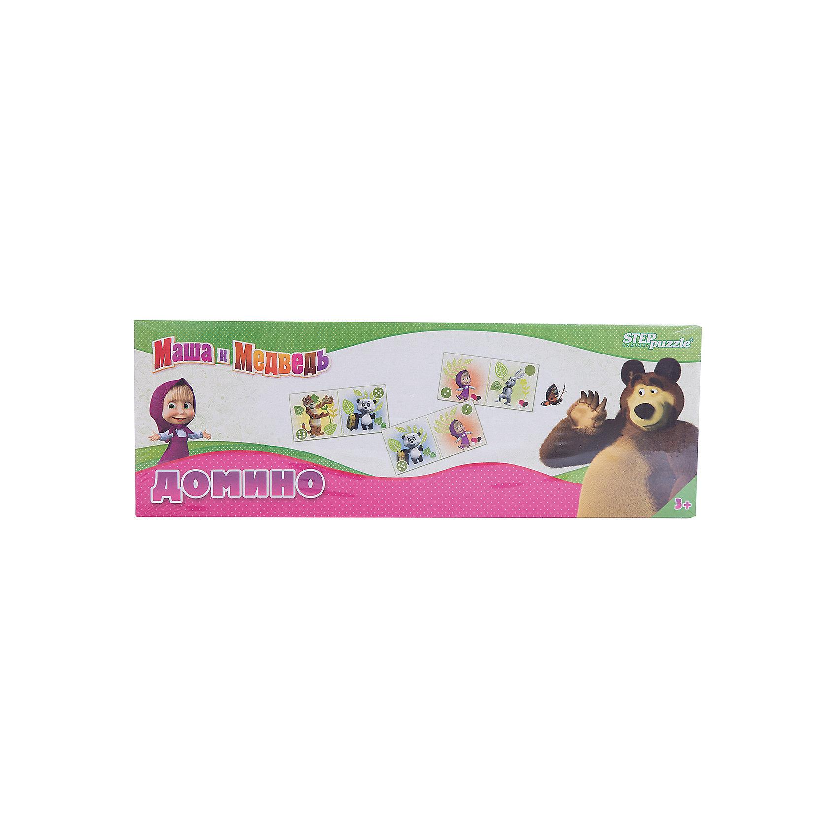 Степ Пазл Домино Маша и Медведь,Step Puzzle магниты маша и медведь купить игрушку