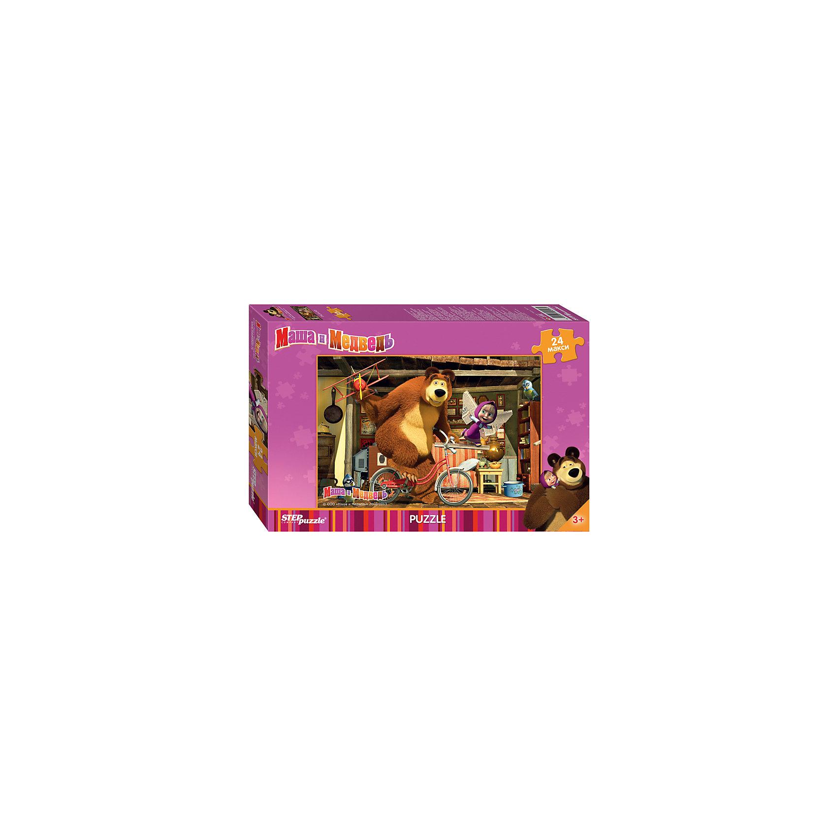 Степ Пазл Пазл Маша и Медведь, 24 MAXI детали, Step Puzzle магниты маша и медведь купить игрушку
