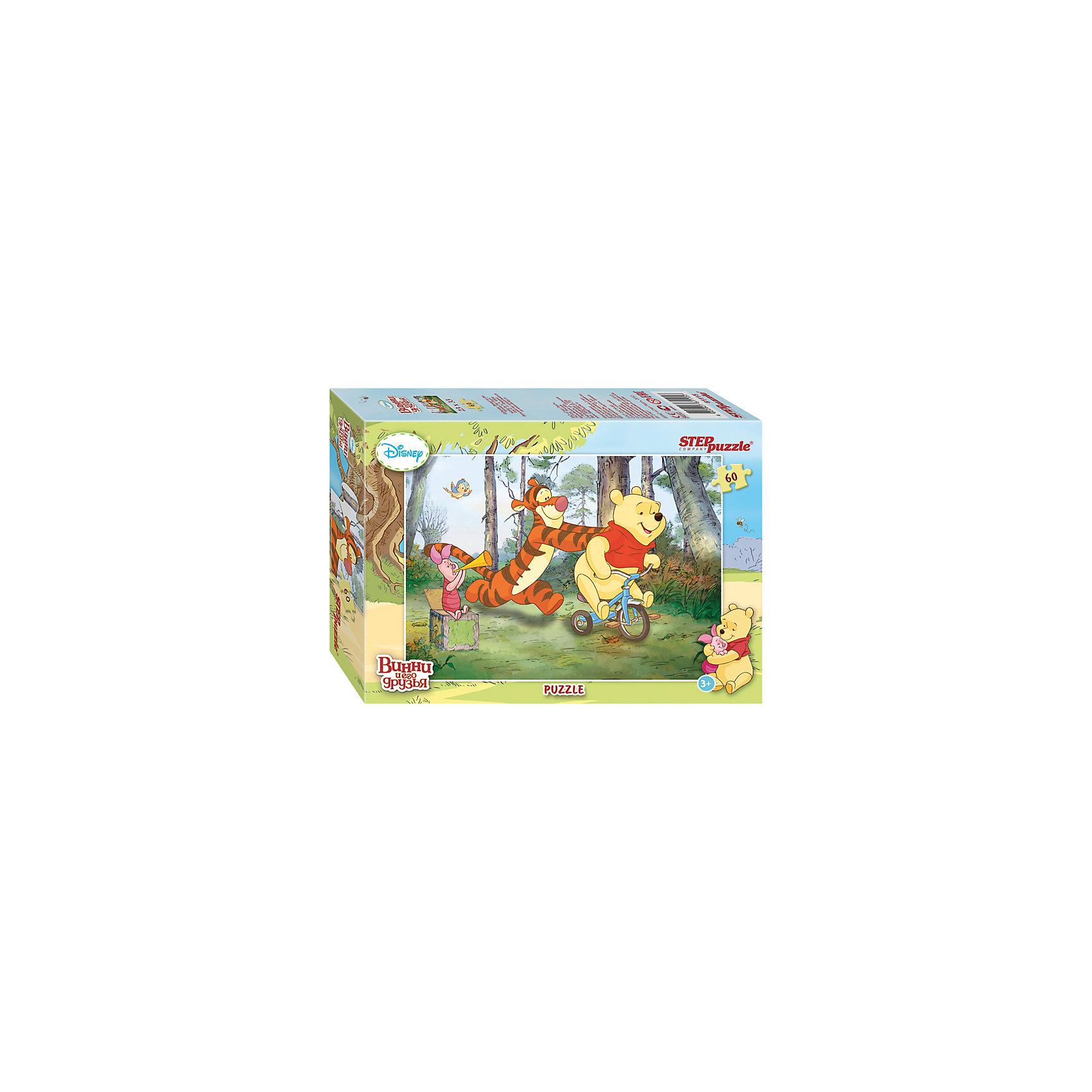 Степ Пазл Пазл Винни и его друзья, 60 деталей, Step puzzle пазл 3d 60 элементов step puzzle disney винни пух 98108