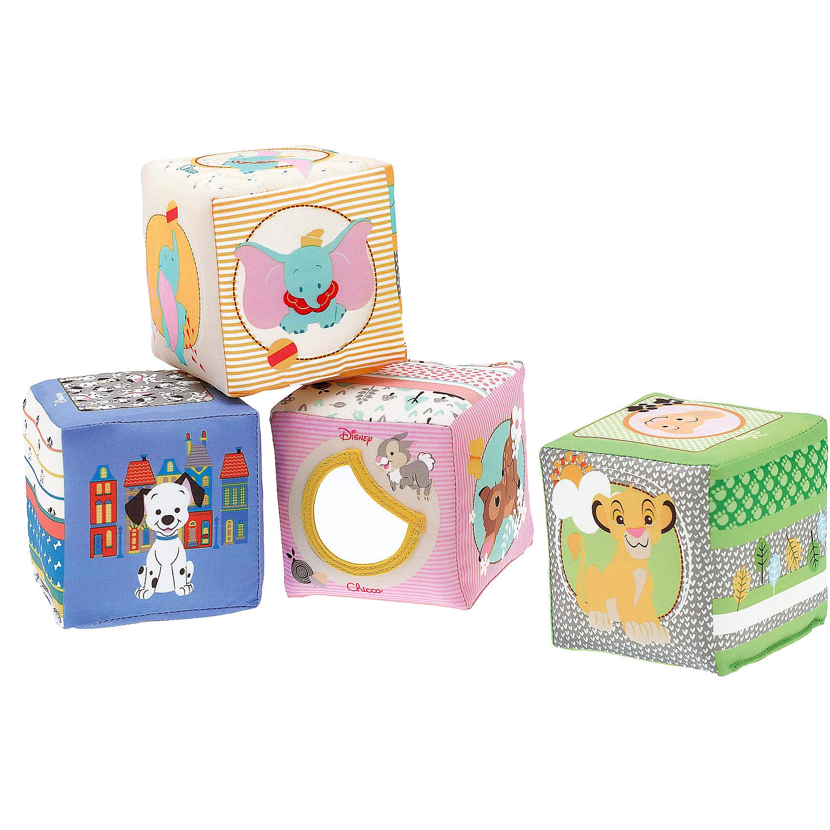 Мягкие кубики Бэмби, Disney, CHICCOКубики<br>Мягкие кубики Бэмби, Disney, CHICCO (ЧИКО) – эти разноцветные веселые кубики с мягкой набивкой внутри позабавят и развеселят ребенка.<br>Любимые герои Disney оживают на мягких кубиках Chicco! C их помощью можно придумать множество разных игр, которые развеселят и позабавят малыша. Каждая сторона кубика украшена забавными изображениями и яркими принтами. Каждый кубик способствует развитию сенсорики: зрительного, тактильного и слухового восприятия. Кубики издают шуршащие и звенящие звуки, а у кубика с изображением героя анимационного фильма Disney Бемби есть безопасное зеркальце, которое создает забавные световые эффекты.<br><br>Дополнительная информация:<br><br>- В наборе: 4 кубика<br>- Размер кубика: 8 х 8 х 8 см.<br>- Материал: текстиль, наполнитель<br>- Размер упаковки: 18 x 18 x 9 см.<br>- Вес в упаковке: 159 г.<br><br>Мягкие кубики Бэмби, Disney, CHICCO (ЧИКО) можно купить в нашем интернет-магазине.<br><br>Ширина мм: 182<br>Глубина мм: 177<br>Высота мм: 99<br>Вес г: 146<br>Возраст от месяцев: 6<br>Возраст до месяцев: 36<br>Пол: Унисекс<br>Возраст: Детский<br>SKU: 4162848