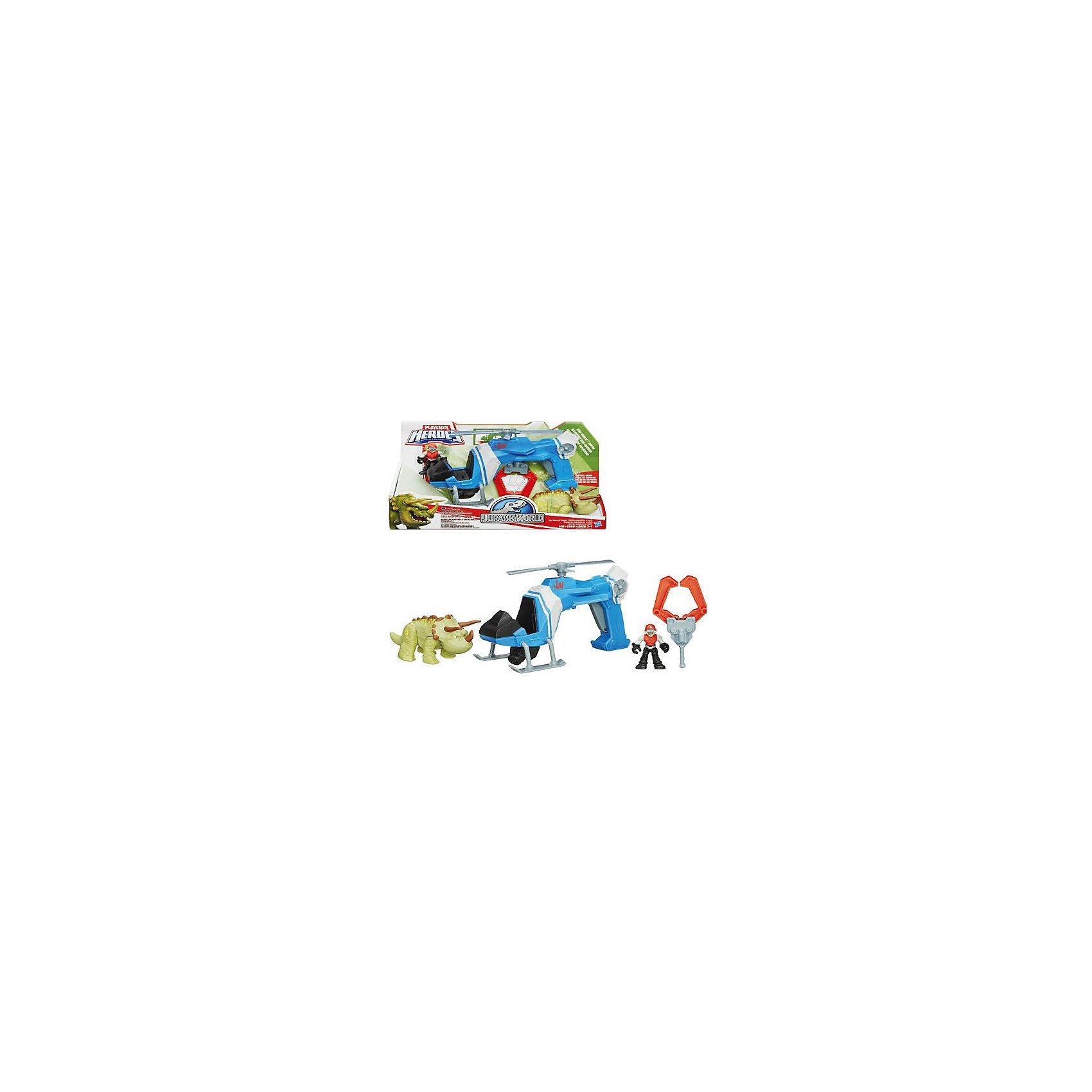 Набор: динозавр Трицератопс и транспортное средство, Мир Юрского ПериодаИгрушки<br>Набор: динозавр Трицератопс и транспортное средство, Мир Юрского Периода<br><br>Характеристики:<br><br>• в комплекте: фигурка трицератопса, фигурка человека, вертолет<br>• материал: пластмасса<br>• размер упаковки: 30,5х20х10,7 см<br>• вес: 820 грамм<br>• длина вертолета: 23 см<br>• высота фигурки: 6 см<br>• размер динозавра: 13 см<br>• батарейки: AG13/LR44 - 3шт. (входят в комплект)<br><br>Набор от Хасбро понравится юным любителям динозавров. В комплекте есть тщательно проработанная фигурка трицератопса, фигурка человека и вертолет. Ребенок сможет организовать операцию по спасению динозавра, транспортировать его или придумать любой другой сюжет. Фигурка человека хорошо помещается в вертолете. Сам вертолет управляется с помощью рукоятки и может крутить лопастями при нажатии на кнопку. Этот набор точно не даст ребенку заскучать!<br><br>Набор: динозавр Трицератопс и транспортное средство, Мир Юрского Периода можно купить в нашем интернет-магазине.<br><br>Ширина мм: 108<br>Глубина мм: 305<br>Высота мм: 203<br>Вес г: 835<br>Возраст от месяцев: 36<br>Возраст до месяцев: 84<br>Пол: Мужской<br>Возраст: Детский<br>SKU: 4163208