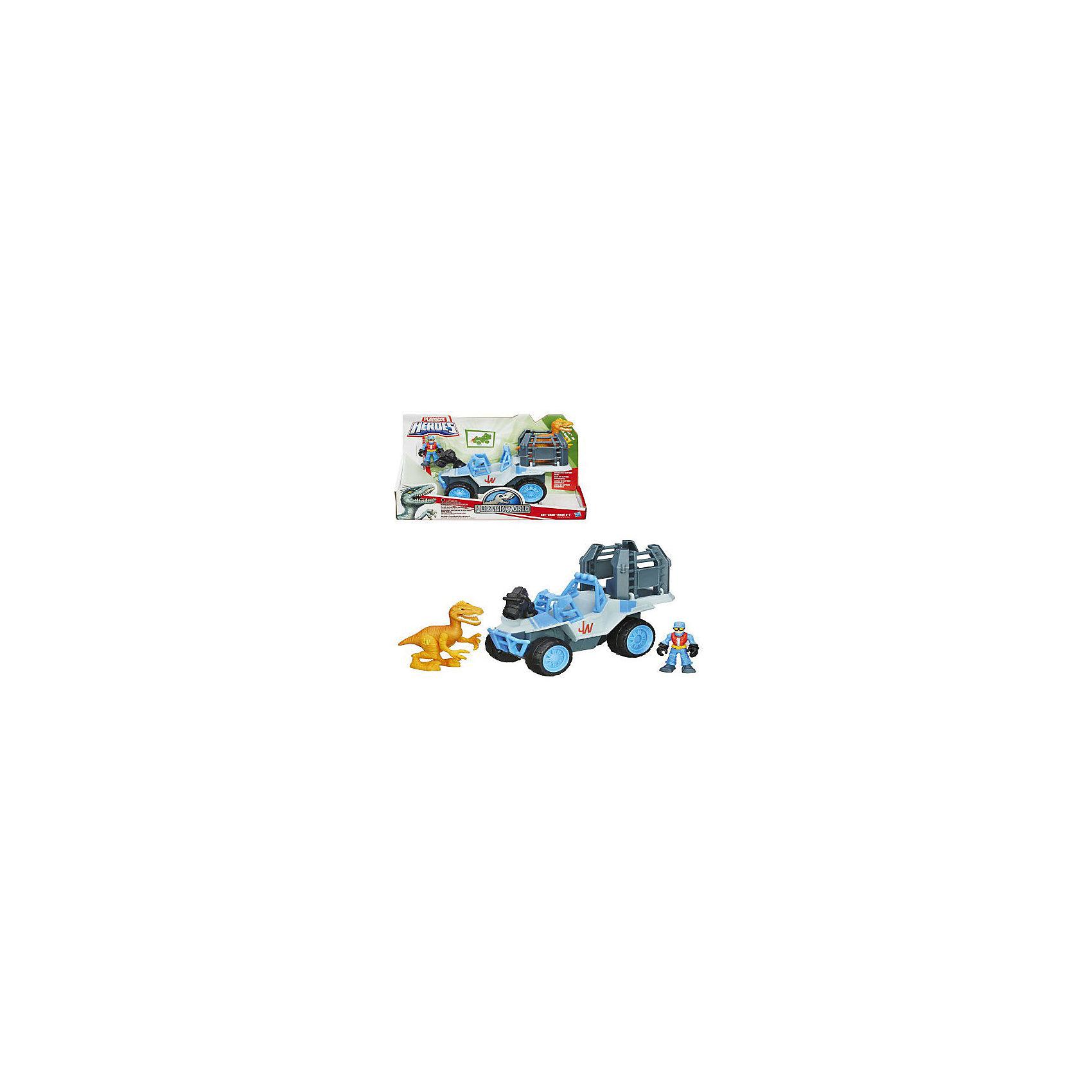 Набор: динозавр, оранжевый, и транспортное средство, Мир Юрского ПериодаИгрушки<br>Набор: динозавр, оранжевый, и транспортное средство, Мир Юрского Периода<br><br>Характеристики:<br><br>• в комплекте: фигурка динозавра, фигурка человека, джип, клетка<br>• материал: пластик<br>• фигурка человека: 7 см<br>• размер машины: 21х17 см<br>• размер упаковки: 30,5х11х20 см<br>• батарейки: AG13/LR44 - 3 шт. (входят в комплект)<br><br>Набор от Хасбро поможет ребенку создать интересный игровой сюжет с динозавром. Наверное, поймать доисторического жителя не так просто, но на помощь придет отважный герой со своим джипом и клеткой. Джип оснащен светодиодной лампой для освещения темного помещения. После поимки динозавр расположится в большой клетке, которую можно перевозить на джипе. Эта увлекательная игра придется по вкусу вашему малышу!<br><br>Набор: динозавр, оранжевый, и транспортное средство, Мир Юрского Периода вы можете купить в нашем интернет-магазине.<br><br>Ширина мм: 108<br>Глубина мм: 305<br>Высота мм: 203<br>Вес г: 835<br>Возраст от месяцев: 36<br>Возраст до месяцев: 84<br>Пол: Мужской<br>Возраст: Детский<br>SKU: 4163209
