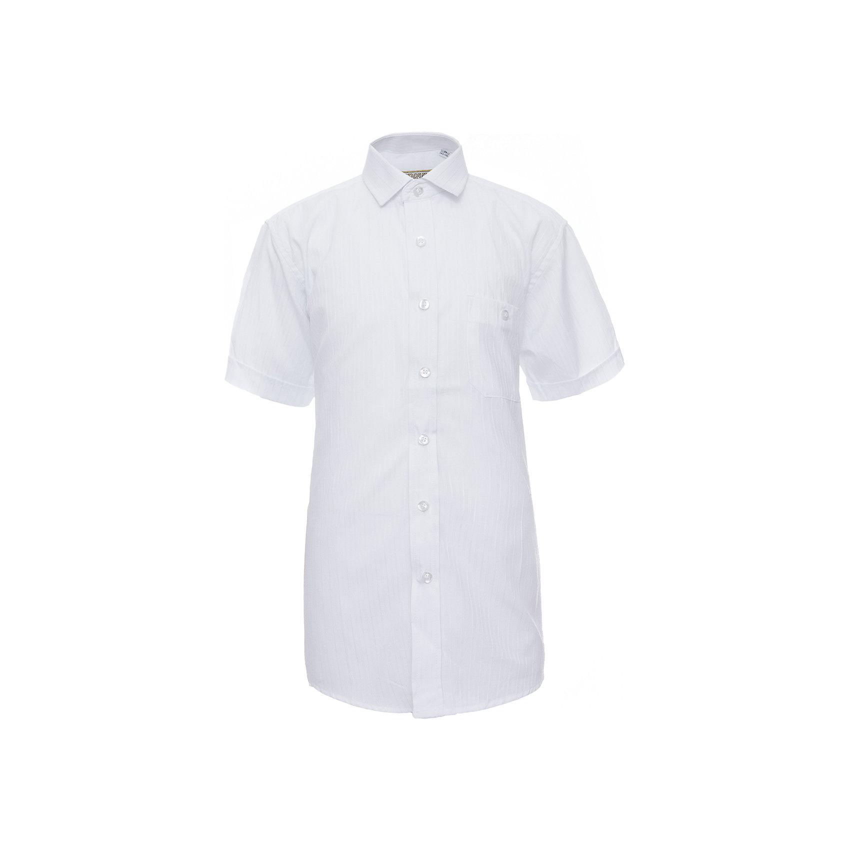 Рубашка для мальчика  TsarevichБлузки и рубашки<br>Рубашка для мальчика от российской марки Tsarevich.<br>Состав:<br>65% хлопок 35% полиэстер<br><br>Ширина мм: 174<br>Глубина мм: 10<br>Высота мм: 169<br>Вес г: 157<br>Цвет: белый<br>Возраст от месяцев: 132<br>Возраст до месяцев: 144<br>Пол: Мужской<br>Возраст: Детский<br>Размер: 146/152,122/128,134/140,164/170,158/164,152/158,140/146,128/134<br>SKU: 4163584