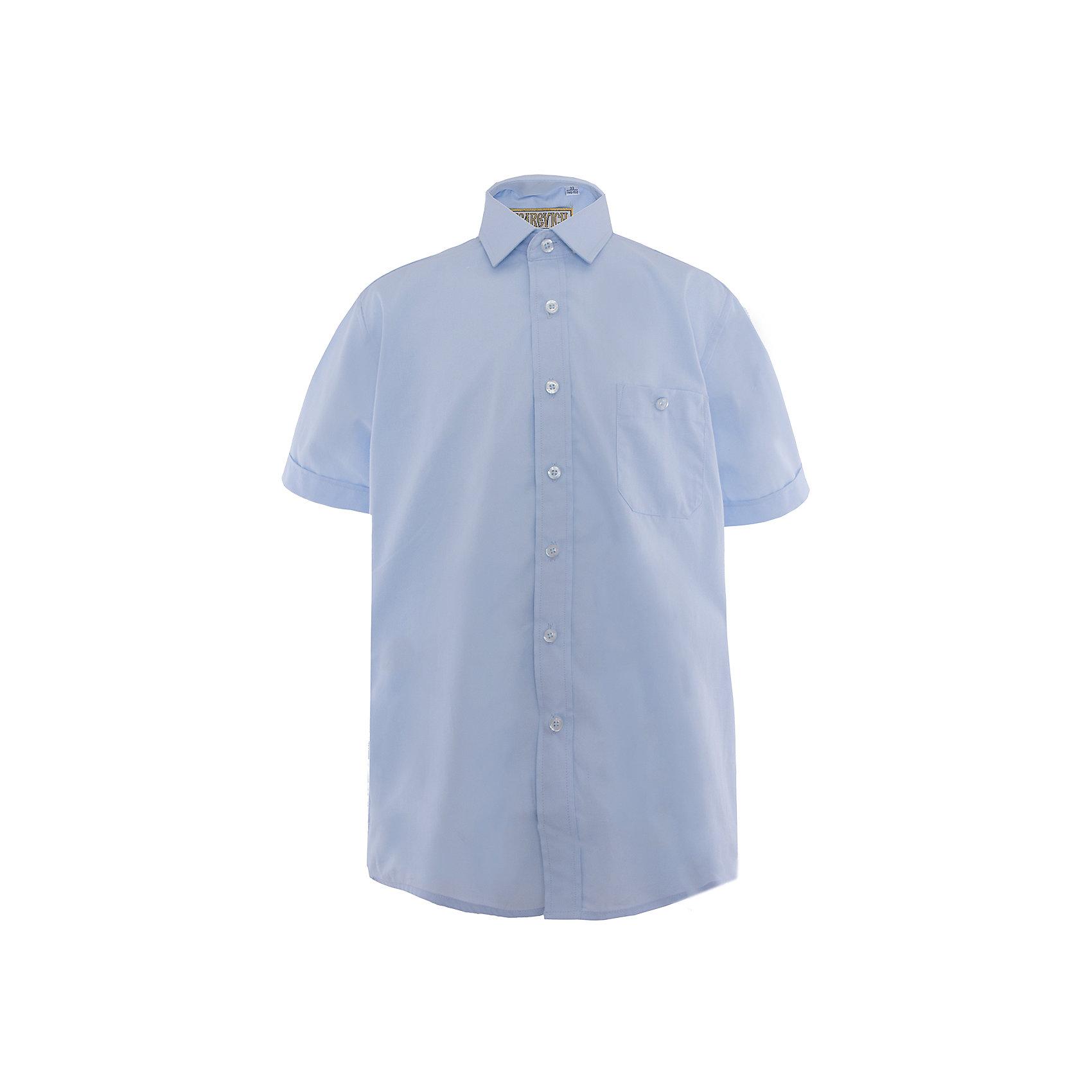Рубашка для мальчика  TsarevichБлузки и рубашки<br>Рубашка для мальчика от российской марки Tsarevich.<br>Состав:<br>80% хлопок  20% полиэстер<br><br>Ширина мм: 174<br>Глубина мм: 10<br>Высота мм: 169<br>Вес г: 157<br>Цвет: голубой<br>Возраст от месяцев: 144<br>Возраст до месяцев: 156<br>Пол: Мужской<br>Возраст: Детский<br>Размер: 152/158,128/134,158/164,164/170,146/152,134/140,122/128,140/146<br>SKU: 4163619