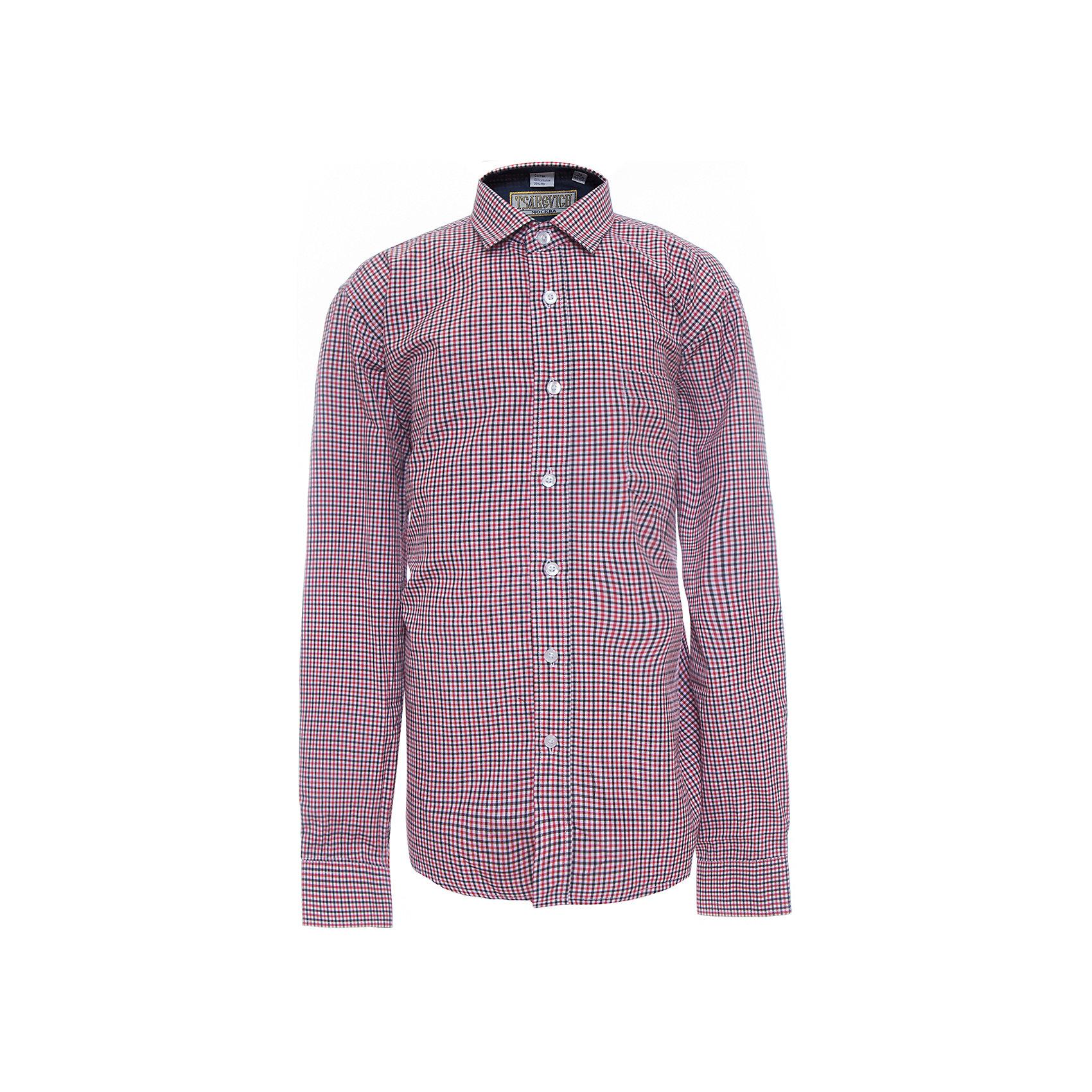 Рубашка для мальчика  TsarevichБлузки и рубашки<br>Рубашка для мальчика от российской марки Tsarevich.<br>Состав:<br>65% хлопок 35% полиэстер<br><br>Ширина мм: 174<br>Глубина мм: 10<br>Высота мм: 169<br>Вес г: 157<br>Цвет: разноцветный<br>Возраст от месяцев: 144<br>Возраст до месяцев: 156<br>Пол: Мужской<br>Возраст: Детский<br>Размер: 152/158,164/170,146/152,134/140,128/134,122/128,140/146,158/164<br>SKU: 4163637