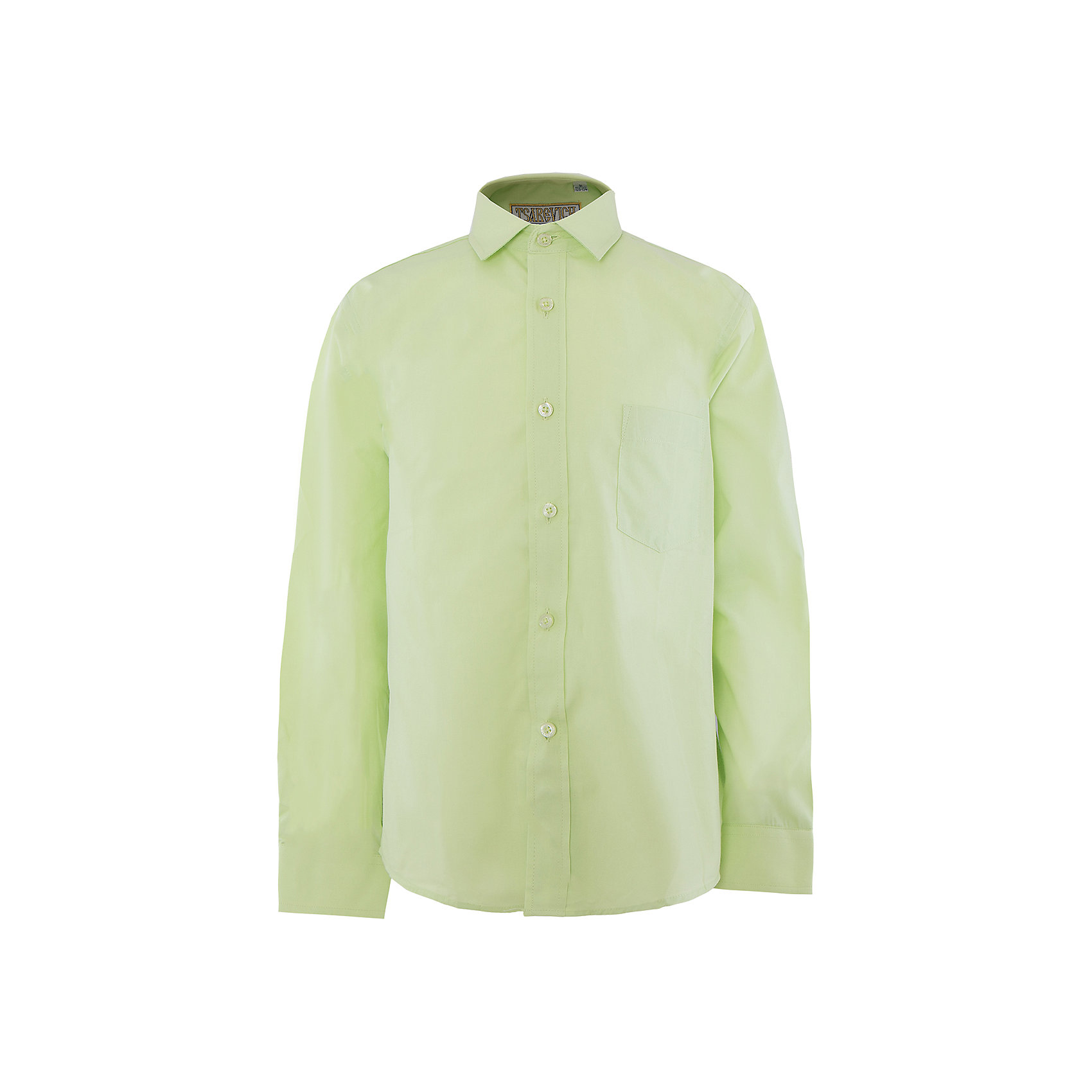Рубашка для мальчика  TsarevichРубашка для мальчика от российской марки Tsarevich.<br>Состав:<br>80% хлопок  20% полиэстер<br><br>Ширина мм: 174<br>Глубина мм: 10<br>Высота мм: 169<br>Вес г: 157<br>Цвет: зеленый<br>Возраст от месяцев: 144<br>Возраст до месяцев: 156<br>Пол: Мужской<br>Возраст: Детский<br>Размер: 164/170,134/140,122/128,128/134,140/146,146/152,152/158,158/164<br>SKU: 4163663