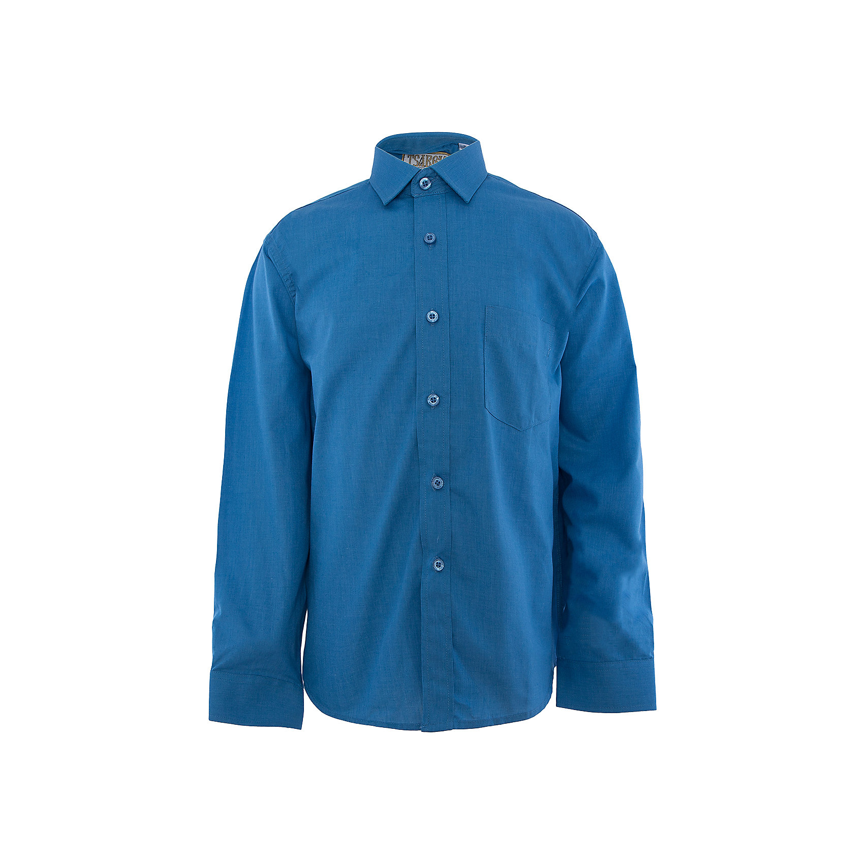 Рубашка для мальчика  TsarevichБлузки и рубашки<br>Рубашка для мальчика от российской марки Tsarevich.<br>Состав:<br>80% хлопок  20% полиэстер<br><br>Ширина мм: 174<br>Глубина мм: 10<br>Высота мм: 169<br>Вес г: 157<br>Цвет: голубой<br>Возраст от месяцев: 108<br>Возраст до месяцев: 120<br>Пол: Мужской<br>Возраст: Детский<br>Размер: 134/140,122/128,164/170,128/134,158/164,152/158,146/152,140/146<br>SKU: 4163672