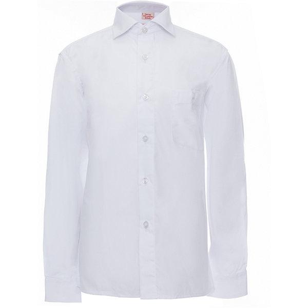 Рубашка для мальчика ImperatorБлузки и рубашки<br>Характеристики товара:<br><br>• цвет: белый<br>• состав ткани: 55% хлопок, 45% полиэстер<br>• особенности: школьная, праздничная<br>• застежка: пуговицы<br>• рукава: длинные<br>• сезон: круглый год<br>• страна бренда: Российская Федерация<br>• страна изготовитель: Китай<br><br>Классическая сорочка для мальчика - отличный вариант комфортной и стильной школьной одежды.<br><br>Накладной карман, свободный покрой, дышащая ткань с преобладанием хлопка - красиво и удобно.<br><br>Рубашку для мальчика Imperator (Император) можно купить в нашем интернет-магазине.<br>Ширина мм: 174; Глубина мм: 10; Высота мм: 169; Вес г: 157; Цвет: белый; Возраст от месяцев: 108; Возраст до месяцев: 120; Пол: Мужской; Возраст: Детский; Размер: 134/140,116/122,152/158,158/164,140/146,146/152,122/128,128/134,104/110,98/104,92/98,110/116,164/170; SKU: 4163726;