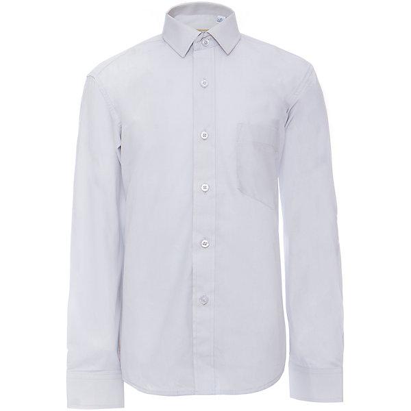 Рубашка для мальчика ImperatorБлузки и рубашки<br>Характеристики товара:<br><br>• цвет: голубой<br>• состав ткани: 80% хлопок, 20% полиэстер<br>• особенности: школьная, праздничная<br>• застежка: пуговицы<br>• рукава: длинные<br>• сезон: круглый год<br>• страна бренда: Российская Федерация<br>• страна изготовитель: Китай<br><br>Сорочка классического кроя для мальчика - отличный вариант практичной и стильной школьной одежды.<br><br>Накладной карман, воротник с отсрочкой, прямой низ, дышащая ткань с преобладанием хлопка - красиво и удобно.<br><br>Рубашку для мальчика Tsarevich (Царевич) можно купить в нашем интернет-магазине.<br>Ширина мм: 174; Глубина мм: 10; Высота мм: 169; Вес г: 157; Цвет: серый; Возраст от месяцев: 120; Возраст до месяцев: 132; Пол: Мужской; Возраст: Детский; Размер: 146/152,140/146,134/140,128/134,122/128,92/98,104/110,98/104,116/122,110/116,164/170,158/164,152/158,152/158,146/152; SKU: 4163750;