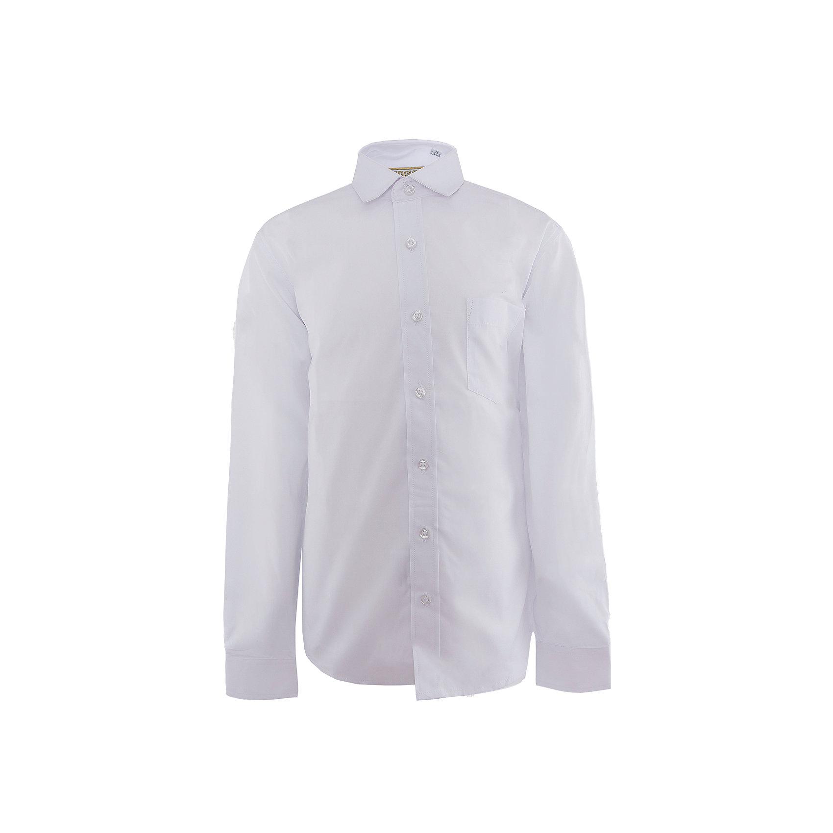 Рубашка для мальчика  TsarevichБлузки и рубашки<br>Рубашка для мальчика от российской марки Tsarevich.<br>Состав:<br>80% хлопок  20% полиэстер<br><br>Ширина мм: 174<br>Глубина мм: 10<br>Высота мм: 169<br>Вес г: 157<br>Цвет: белый<br>Возраст от месяцев: 132<br>Возраст до месяцев: 144<br>Пол: Мужской<br>Возраст: Детский<br>Размер: 146/152,122/128,140/146,158/164,134/140,128/134,164/170,152/158<br>SKU: 4163776