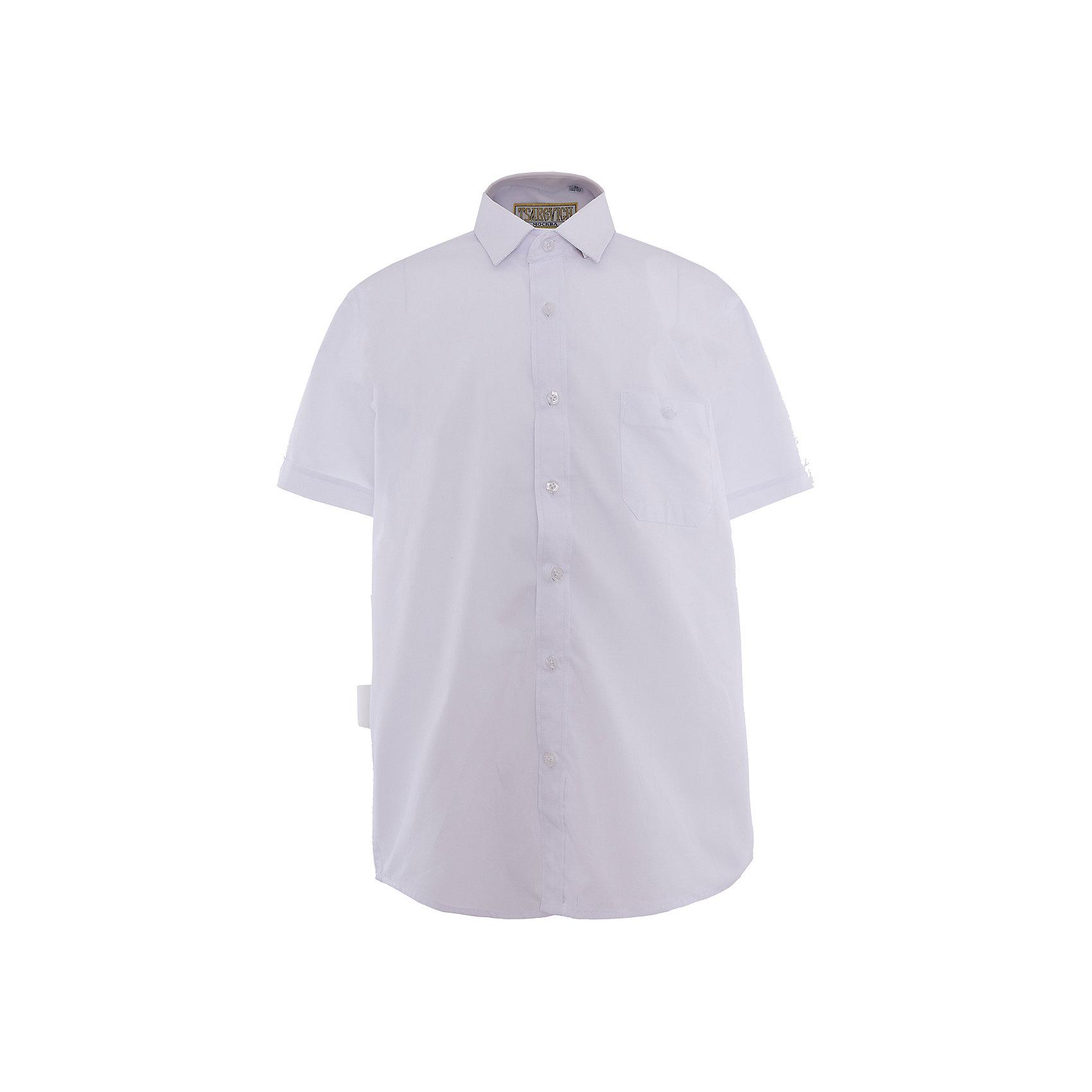 Рубашка для мальчика  TsarevichБлузки и рубашки<br>Рубашка для мальчика от российской марки Tsarevich.<br>Состав:<br>80% хлопок  20% полиэстер<br><br>Ширина мм: 174<br>Глубина мм: 10<br>Высота мм: 169<br>Вес г: 157<br>Цвет: белый<br>Возраст от месяцев: 84<br>Возраст до месяцев: 96<br>Пол: Мужской<br>Возраст: Детский<br>Размер: 122/128,164/170,134/140,158/164,152/158,146/152,140/146,128/134<br>SKU: 4163785