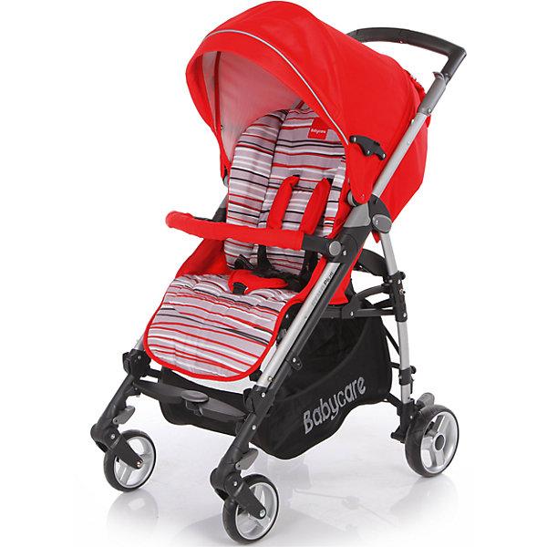 Коляска-трость Baby Care GT4 Plus , красныйКоляски-трости<br>Характеристики коляски-трости Baby Care GT4 Plus:<br><br>• спинка коляски регулируется в 3-х положениях, угол наклона почти 170 градусов;<br>• подножка регулируется в 2-х положениях, удлиняет спальное место;<br>• 5-ти точечные ремни безопасности;<br>• глубокий капюшон с дополнительной секцией опускается до бампера;<br>• капюшон оснащен солнцезащитным козырьком со светоотражающей накладкой;<br>• на задней стороне капюшона есть кармашек для мелочей;<br>• съемный бампер с мягкой накладкой;<br>• корзина для покупок;<br>• материал: пластик, полиэстер;<br>• размер коляски в разложенном виде: 103х51х87 см;<br>• размер коляски в сложенном виде: 99х31х29 см;<br>• вес коляски: 10,1 кг;<br>• допустимый вес ребенка: до 15 кг.<br><br>Характеристики шасси коляски:<br><br>• механизм складывания: трость;<br>• защита от случайного раскладывания коляски;<br>• одинарные колеса с пружинными подвесками;<br>• передние поворотные с блокировкой;<br>• на задних колесах реечный тормоз;<br>• материал рамы: алюминий;<br>• материал колес: пеноплен (вспененная резина);<br>• диаметр колес: 16 см, 18 см;<br>• ширина колесной базы: 51 см.<br><br>Компактная коляска-трость GT4 Plus предназначена для детей в возрасте от 7 месяцев до 4-х лет. Спинка коляски и подножка регулируются, ребенок может спокойно спать в прогулочном блоке при горизонтально разложенной спинке и подножке коляски. Утепленный чехол на ножки защищает малыша от ветра и непогоды, а глубокий капюшон с дополнительной секцией, раскладывающийся до бампера, скроет кроху от нежелательных глаз, защитит от ветра и солнечных лучей, поможет обустроить уютное гнездышко для сна. <br><br>Комплектация:<br><br>• коляска-трость GT4 Plus;<br>• дождевик;<br>• чехол на ножки;<br>• инструкция. <br><br>Коляску-трость GT4 Plus Baby Care, красную можно купить в нашем интернет-магазине.<br><br>Ширина мм: 1040<br>Глубина мм: 350<br>Высота мм: 350<br>Вес г: 12000<br>Возраст от месяцев: 6<br>Возраст д