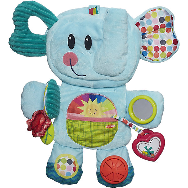 Веселый слоник, PLAYSKOOLРазвивающие коврики<br>Веселый Слоник из линейки портативных игрушек Playskool  развивает мелкую моторику и логическое мышление ребенка, а благодаря компактным размерам ее можно взять с собой в дорогу или путешествие.<br>Ширина мм: 410; Глубина мм: 332; Высота мм: 101; Вес г: 620; Возраст от месяцев: 3; Возраст до месяцев: 36; Пол: Унисекс; Возраст: Детский; SKU: 4166215;