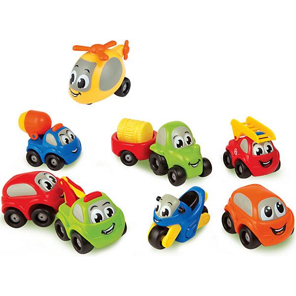 Набор из 9 машинок Vroom Planet, SmobyМашинки<br>Набор из 9 машинок, Vroom Planet, Smoby (Смоби) станет отличным подарком для самых маленьких любителей автотехники. Он замечательно подойдет для игр как дома, так и на улице. В набор входят 9 красочных машинок, представляющих различные виды транспорта: вертолет, пожарная машина, бетономешалка, легковой автомобиль, мотоцикл, трактор с прицепом, автобус и эвакуатор. Все игрушки имеют крупную округлую форму, удобную для детских ручек, без острых углов. Крупные колеса позволят малышу легко катать машинки по любой поверхности. <br><br>Дополнительная информация:<br><br>- Материал: пластик.<br>- Размер машинки: 7 см.<br>- Размер упаковки: 32,5 х 6,5 х 26 см.<br>- Вес: 0,686 кг.<br><br>Набор из 9 машинок, Vroom Planet, Smoby можно купить в нашем интернет-магазине.<br>Ширина мм: 330; Глубина мм: 65; Высота мм: 260; Вес г: 686; Возраст от месяцев: 12; Возраст до месяцев: 60; Пол: Мужской; Возраст: Детский; SKU: 4166804;