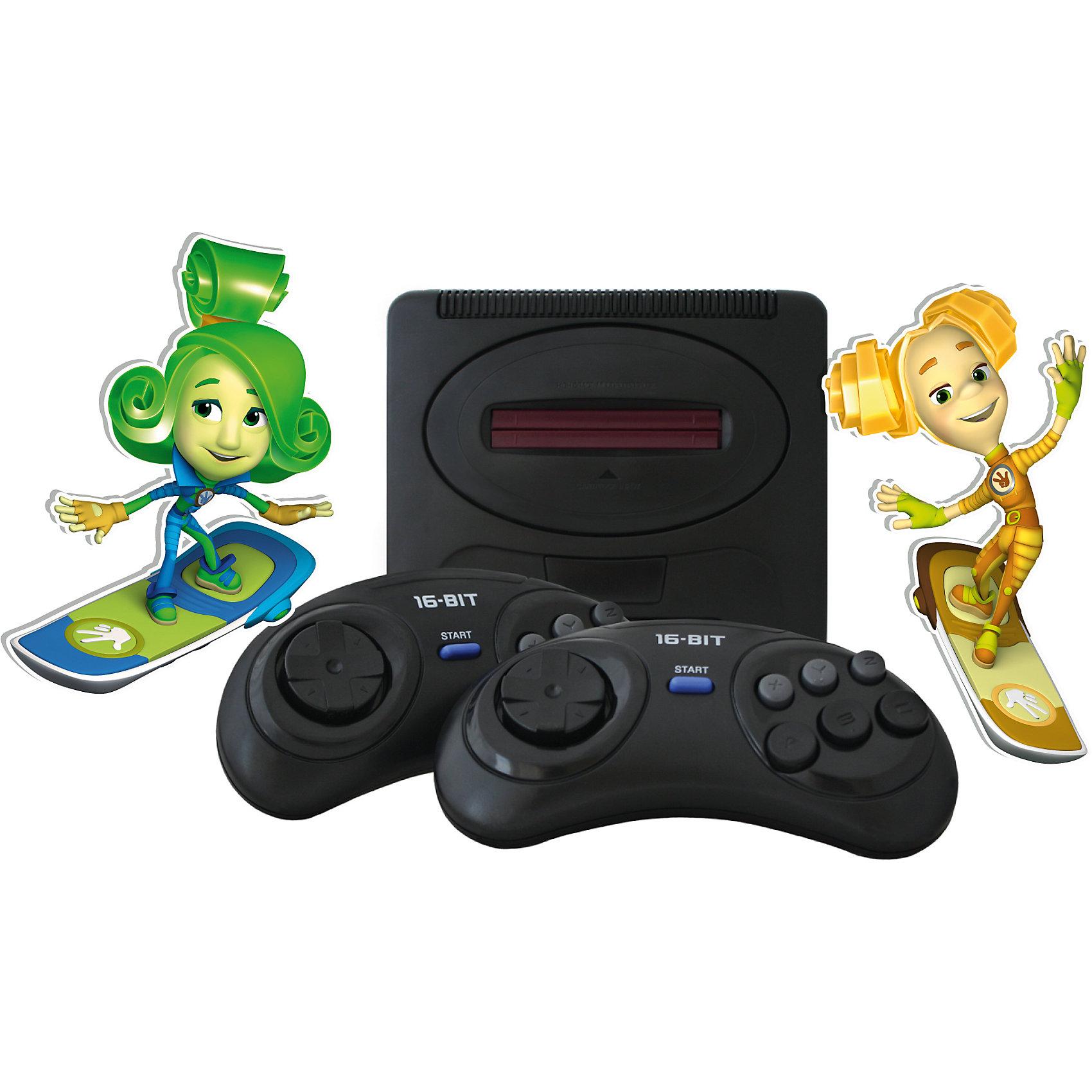 Телевизионная Фикси-приставка Mega Drive 2Телевизионная Фикси-приставка Mega Drive 2 – это классическая 16 битная игровая приставка, содержащая 25 разнообразных увлекательных игр.<br>Телевизионная Фикси-приставка Mega Drive 2- это игровая телевизионная приставка, объединившая в себе лучшие ценности 16-битного игрового мира. Телевизионная Фикси-приставка Mega Drive 2 обеспечивает качество игр на уровне аркадных игровых автоматов. А коллекция из 25 встроенных видеоигр не оставит равнодушным ни одного поклонника 16-битного геймплея: только самые популярные игровые хиты и любимые персонажи - Соник, Микки Маус, Черепашки Ниндзя, Том и Джерри, Червяк Джим и многие другие. Кроме развлекательной функции телевизионная Фикси-приставка Mega Drive 2 также помогает своими играми развивать память и смекалку. В частности игры из коллекции Mega Drive 2: повышают внимательность к деталям (разбросанные по уровням ключи), память, мышление; улучшают координацию движений (зрительно - двигательную моторику); улучшают зрительное восприятие (чувство пространства); развивают воображение.<br><br>Дополнительная информация:<br><br>- Комплектация: игровая приставка, 2 джойстика, сетевой адаптер, AV-кабель, инструкция, гарантийный талон<br>- Размер упаковки: 340х225х65 мм.<br>- Вес: 870 гр.<br><br>Телевизионную Фикси-приставку Mega Drive 2 можно купить в нашем интернет-магазине.<br><br>Ширина мм: 340<br>Глубина мм: 225<br>Высота мм: 65<br>Вес г: 870<br>Возраст от месяцев: 72<br>Возраст до месяцев: 144<br>Пол: Унисекс<br>Возраст: Детский<br>SKU: 4166843