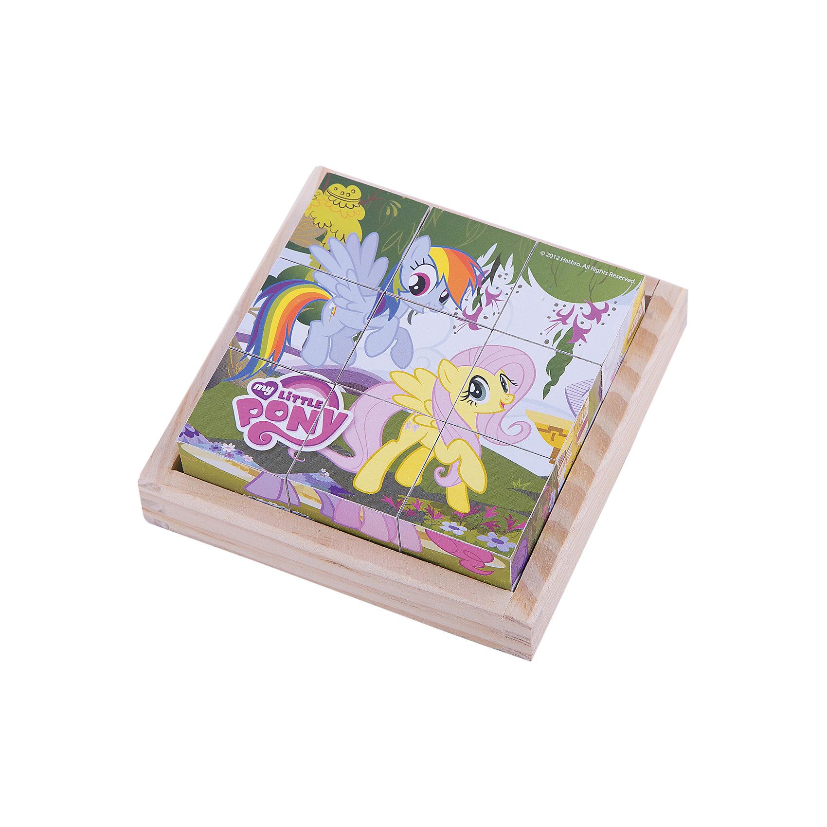 Деревянные кубики My little Pony, Играем вместеИгрушки<br>Разноцветные кубики - важный инструмент развития ребенка младшего возраста. Деревянные кубики My Little Pony (Мой маленький пони) созданы специально для того, чтобы малыш в развлекательной приятной форме тренировал мелкую моторику, логику и внимание. Кубики выполнены из дерева и покрыты безопасной краской, поэтому Вы можете использовать их для игры с самыми маленькими детьми. Сначала кроха будет рассматривать их и строить башенки, затем составлять замечательные картинки. Ведь на каждой стороне кубиков удивительные картинки из любимого мультсериала My Little Pony (Мой маленький пони). С помощью удобной подставки для хранения кубиков, Вы можете приучать малыша к порядку и аккуратности.<br><br>Дополнительная информация:<br><br>- 9 кубиков;<br>- Особенно понравится поклонникам мультсериала My Little Pony (Мой маленький пони);<br>- Удобная подставка для хранения;<br>- Красивые картинки;<br>- Материал: дерево;<br>- Размер упаковки: 13 х 13 х 5 см;<br>- Вес: 280 г<br><br>Деревянные кубики My little Pony (Мой маленький пони), Играем вместе, можно купить в нашем интернет-магазине.<br><br>Ширина мм: 130<br>Глубина мм: 130<br>Высота мм: 50<br>Вес г: 280<br>Возраст от месяцев: 12<br>Возраст до месяцев: 36<br>Пол: Женский<br>Возраст: Детский<br>SKU: 4166992