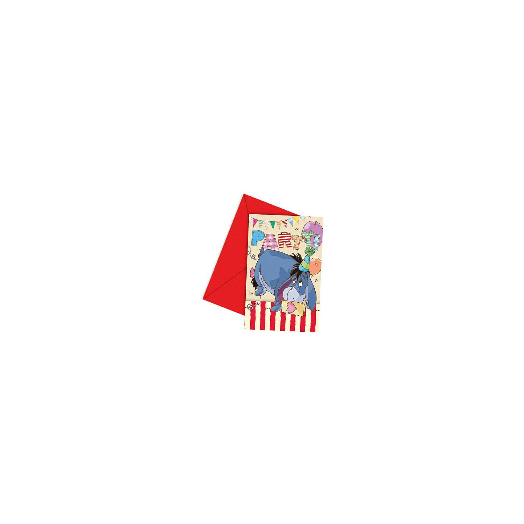 Приглашения в конвертах Алфавит Винни, 6 штDisney Винни Пух<br>Красочные приглашения с изображениями Ослика Иа-Иа из мультфильма про Винни Пуха и его друзей удивят и порадуют гостей ярким оригинальным исполнением.<br><br>Дополнительная информация:<br><br>- Материал: картон.<br>- Комплектация: 6 приглашений в конвертах.<br>- Размер приглашения: 14х9 см.<br><br>Приглашения в конвертах Алфавит Винни, 6 шт, можно купить в нашем магазине.<br><br>Ширина мм: 15<br>Глубина мм: 110<br>Высота мм: 165<br>Вес г: 46<br>Возраст от месяцев: 24<br>Возраст до месяцев: 84<br>Пол: Унисекс<br>Возраст: Детский<br>SKU: 4168995