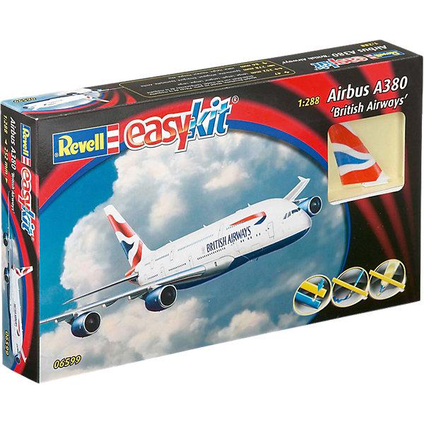Сборка Пассажирский Самолет Airbus A380 EmiratesМодели для склеивания<br>Характеристики товара:<br><br>• возраст: от 10 лет;<br>• цвет: белый;<br>• масштаб: 1:144;<br>• количество деталей: 60 шт;<br>• материал: пластик;<br>• клей и краски в комплект не входят;<br>• длина модели: 25,2 см;<br>• размах крыльев: 23,5 см;<br>• бренд, страна бренда: Revell (Ревел), Германия;<br>• страна-изготовитель: Китай.<br><br>Сборная модель «Самолет Пассажирский Airbus A320 AirBerlin» поможет вам и вашему ребенку придумать увлекательное занятие на долгое время. <br><br>В комплект набора входит: 47 пластиковых деталей, 1 рамка выполненная из прозрачного пластика (фонарь кабины),подробная иллюстрирована инструкция на английском языке. Для сборки этой модели клей и краски вам не потребуются, соединение деталей происходит посредством специальных зажимов.<br><br>Airbus А380 — широкофюзеляжный двухпалубный четырехдвигательный турбореактивный пассажирский самолёт, созданный концерном «Airbus S.A.S.». <br><br>Процесс сборки развивает интеллектуальные и инструментальные способности, воображение и конструктивное мышление, а также прививает практические навыки работы со схемами и чертежами. <br><br>Сборную модель «Самолет Пассажирский Airbus A320 AirBerlin», 60 дет., Revell (Ревел) можно купить в нашем интернет-магазине.<br><br>Ширина мм: 311<br>Глубина мм: 185<br>Высота мм: 50<br>Вес г: 242<br>Возраст от месяцев: 72<br>Возраст до месяцев: 132<br>Пол: Мужской<br>Возраст: Детский<br>SKU: 4171725
