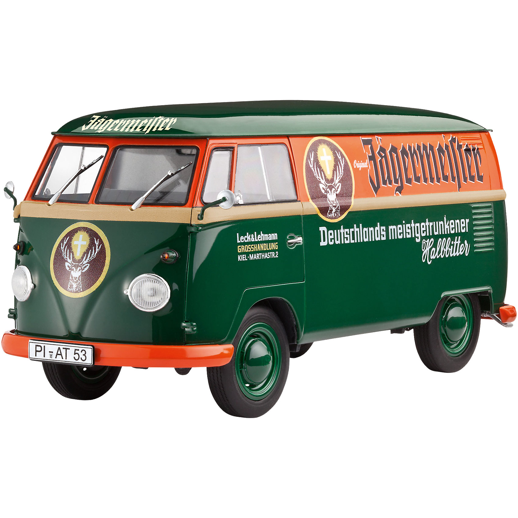 Гоночный автомобиль VW T1 Транспортер (Кастенваген)Модели для склеивания<br>Сборная модель легендарного микроавтобуса Transporter от компании Volkswagen. Эти машины производились в Германии с 1967 по 1979 годы. Всего было построено около 2,5 миллионов автомобилей. Треть из них была отправлена на экспорт. В 1997 году производство было возобновлено в Бразилии.  <br>Масштаб: 1:24 <br>Количество деталей:124 <br>Длина модели: 205 мм <br>Уровень сложности: 3.<br><br>Ширина мм: 358<br>Глубина мм: 215<br>Высота мм: 86<br>Вес г: 449<br>Возраст от месяцев: 144<br>Возраст до месяцев: 192<br>Пол: Мужской<br>Возраст: Детский<br>SKU: 4171731