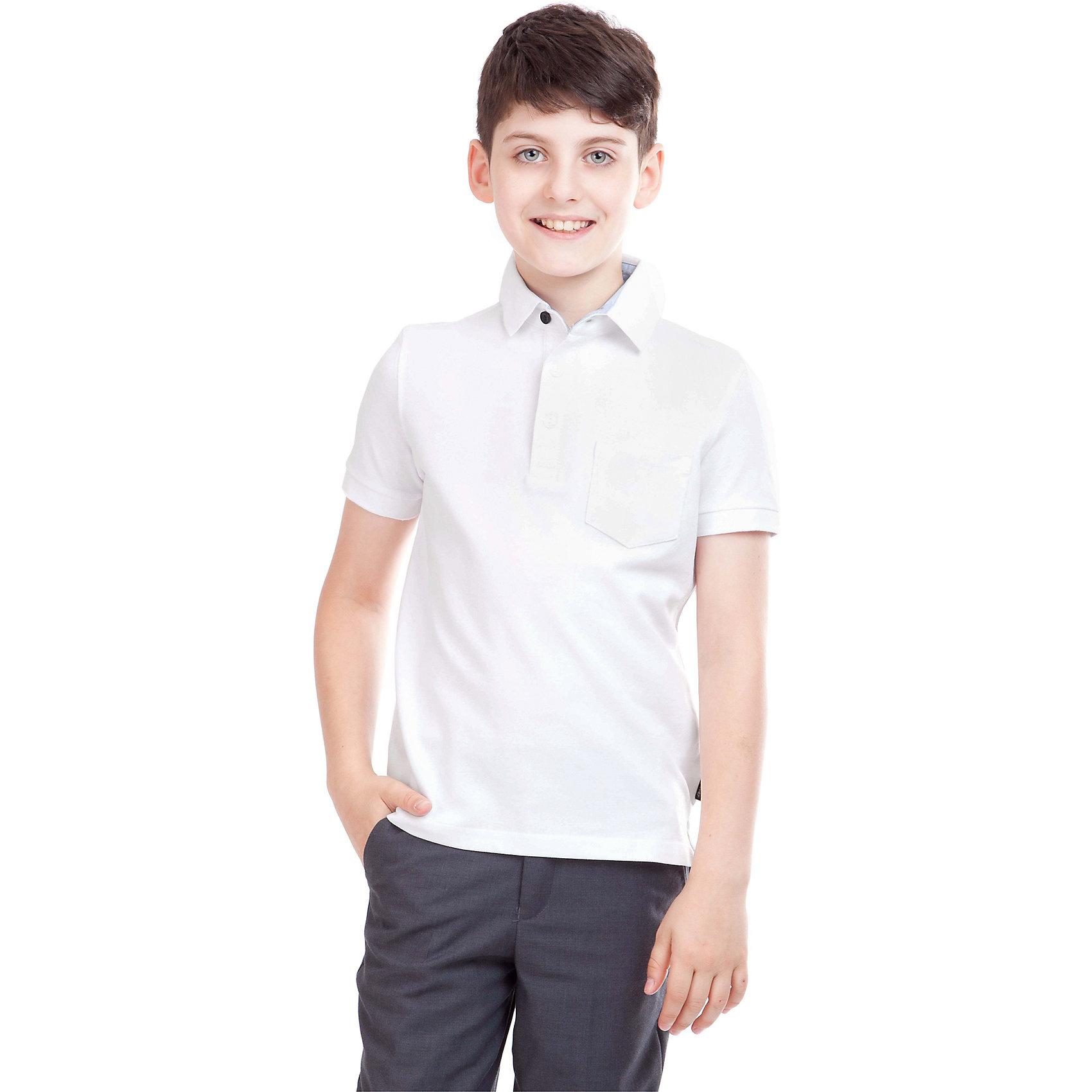 Gulliver Футболка-поло для мальчика Gulliver брюки для мальчика gulliver цвет черный 21612btc5601 размер 158