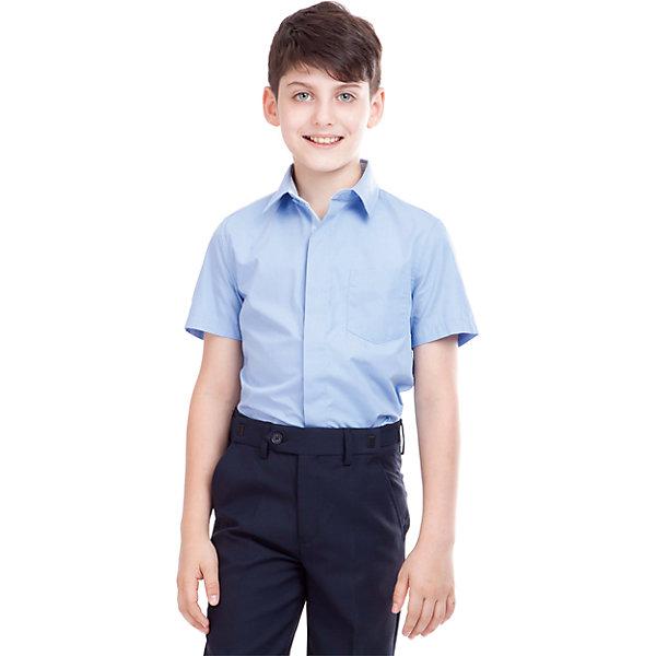 Рубашка для мальчика GulliverБлузки и рубашки<br>Рубашка для мальчика от российского бренда Gulliver.<br>Классическая белая рубашка с коротким рукавом должна быть и в зимнем гардеробе школьника, ведь в школе бывает очень жарко.  Современный крой обеспечивает прекрасную посадку изделия на фигуре.<br>Состав:<br>80%Хлопок 20%Полиэстер<br>Ширина мм: 174; Глубина мм: 10; Высота мм: 169; Вес г: 157; Цвет: голубой; Возраст от месяцев: 72; Возраст до месяцев: 84; Пол: Мужской; Возраст: Детский; Размер: 122,164,128,134,140,146,152,158; SKU: 4174542;
