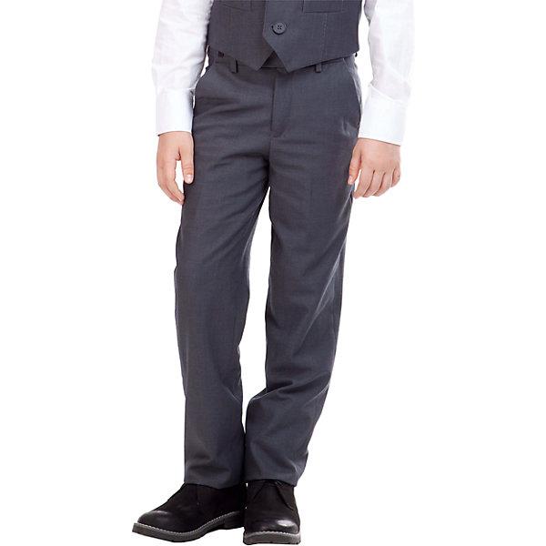 Брюки для мальчика GulliverБрюки<br>Брюки для мальчика от российского бренда Gulliver.<br>Классические брюки  - основа повседневного школьного гардероба. В сочетании с любым верхом, они смотрятся строго, настраивая на деловую волну. Хороший состав ткани с содержанием шерсти обеспечивает брюкам  достойный вид, долговечность и неприхотливость в уходе. Брюки имеют удобную регулировку пояса, создающую комфортную посадку изделия на всех типах фигуры.<br>Состав:<br>тк. верха: 65% полиэстер,  25% вискоза, 10% шерсть подкл.: 100% полиэстер<br><br>Ширина мм: 215<br>Глубина мм: 88<br>Высота мм: 191<br>Вес г: 336<br>Цвет: серый<br>Возраст от месяцев: 144<br>Возраст до месяцев: 156<br>Пол: Мужской<br>Возраст: Детский<br>Размер: 158,146,122,152,128,134,140<br>SKU: 4174648