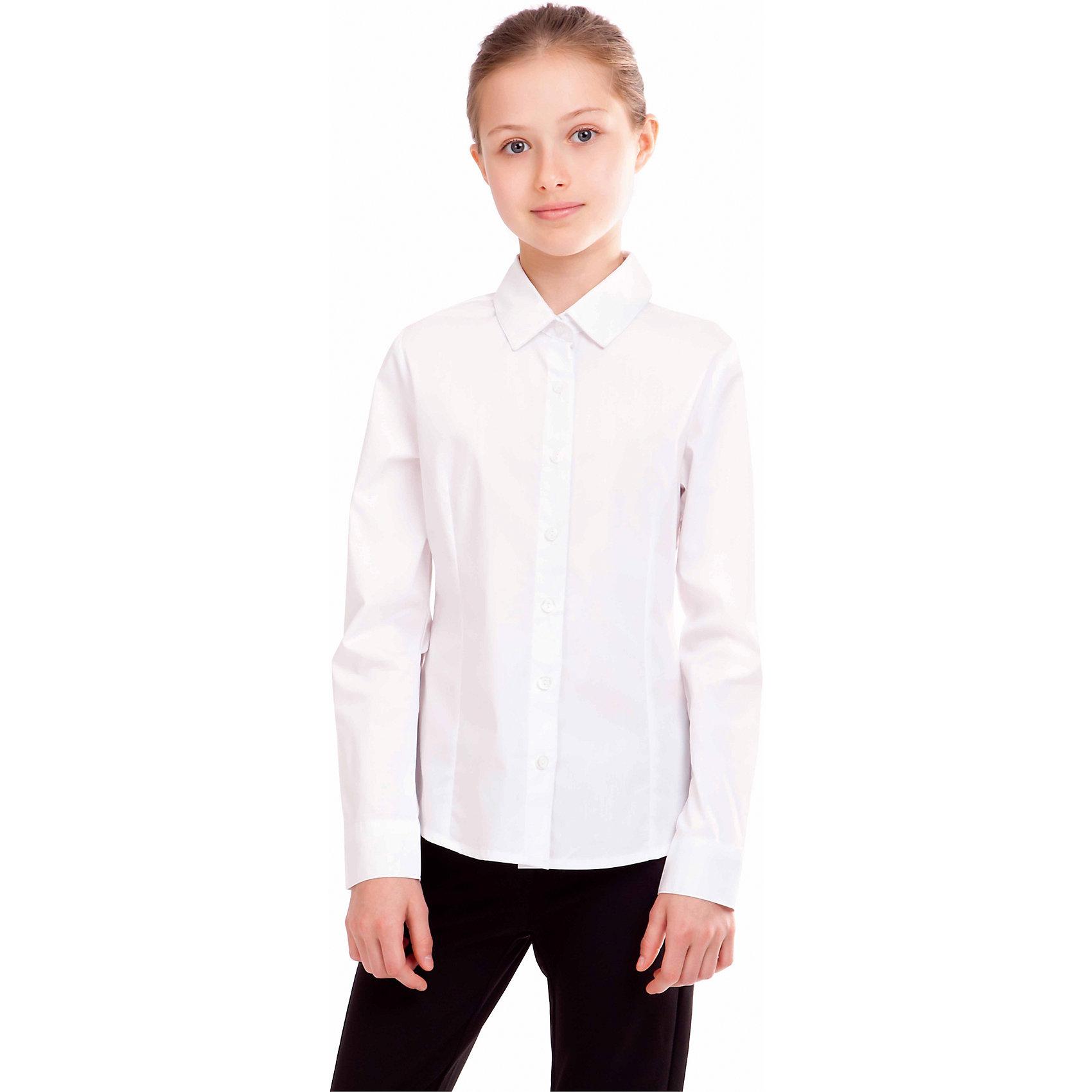 Блузка для девочки GulliverБлузки и рубашки<br>Блузка для девочки от российской марки Gulliver.<br>Классическая блузка для каждого дня современной школьницы.  В составе ткани значительное содержание хлопка. Полиэстер и эластан играют роль смягчающего волокна и гарантируют комфортную посадку блузки на фигуре. Отсутствие крупных декоративных деталей на полочке позволят ей быть прекрасным дополнением к любому сарафану.<br>Состав:<br>68%хлопок, 29% полиэстер, 3%эластан<br><br>Ширина мм: 186<br>Глубина мм: 87<br>Высота мм: 198<br>Вес г: 197<br>Цвет: белый<br>Возраст от месяцев: 108<br>Возраст до месяцев: 120<br>Пол: Женский<br>Возраст: Детский<br>Размер: 140,158,146,134,122,152,128<br>SKU: 4174728