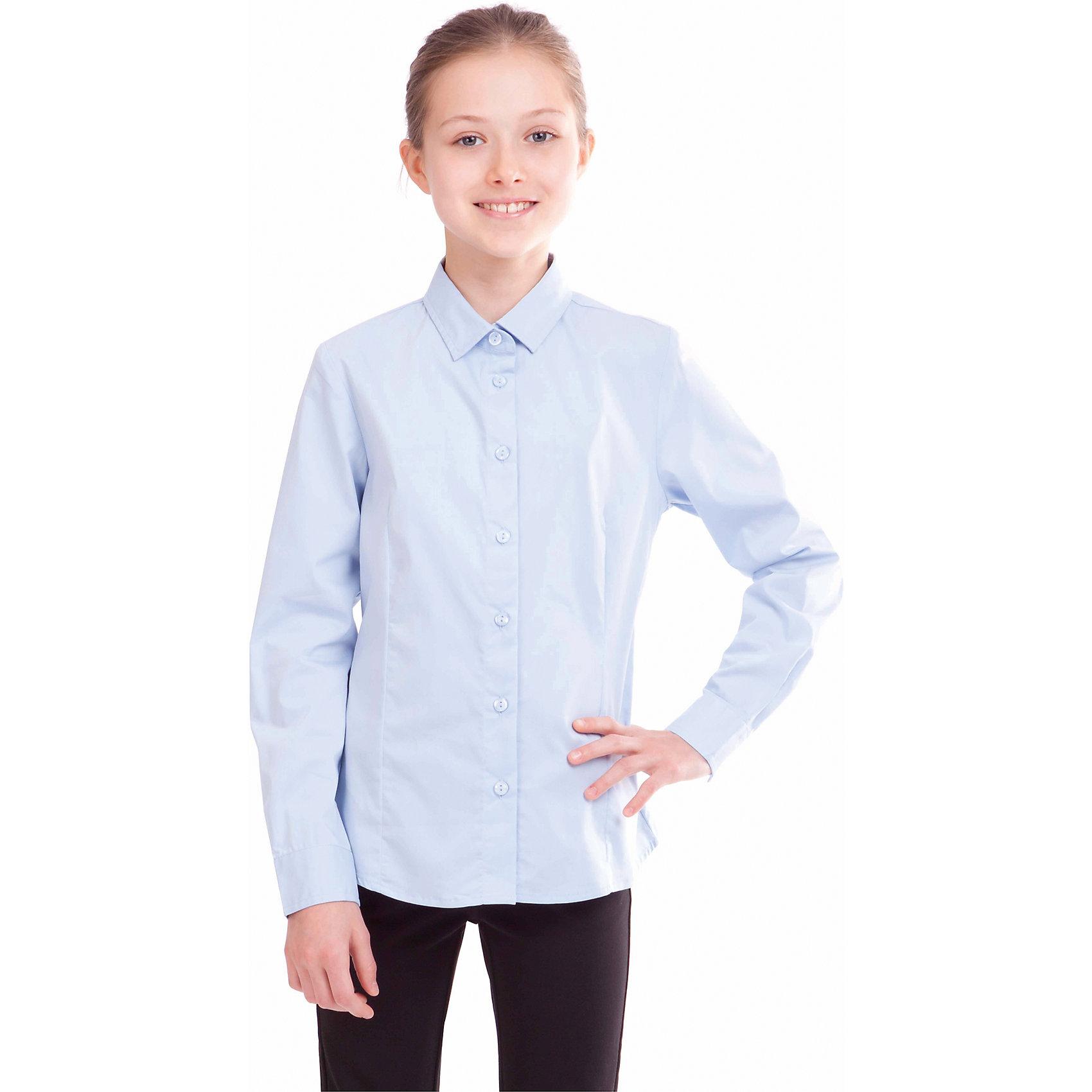Блузка для девочки GulliverБлузка для девочки от российской марки Gulliver.<br>Классическая блузка для каждого дня современной школьницы.  В составе ткани значительное содержание хлопка. Полиэстер и эластан играют роль смягчающего волокна и гарантируют комфортную посадку блузки на фигуре. Отсутствие крупных декоративных деталей на полочке позволят ей быть прекрасным дополнением к любому сарафану.<br>Состав:<br>68%хлопок, 29% полиэстер, 3%эластан<br><br>Ширина мм: 186<br>Глубина мм: 87<br>Высота мм: 198<br>Вес г: 197<br>Цвет: голубой<br>Возраст от месяцев: 120<br>Возраст до месяцев: 132<br>Пол: Женский<br>Возраст: Детский<br>Размер: 146,134,140,158,152,128,122<br>SKU: 4174768