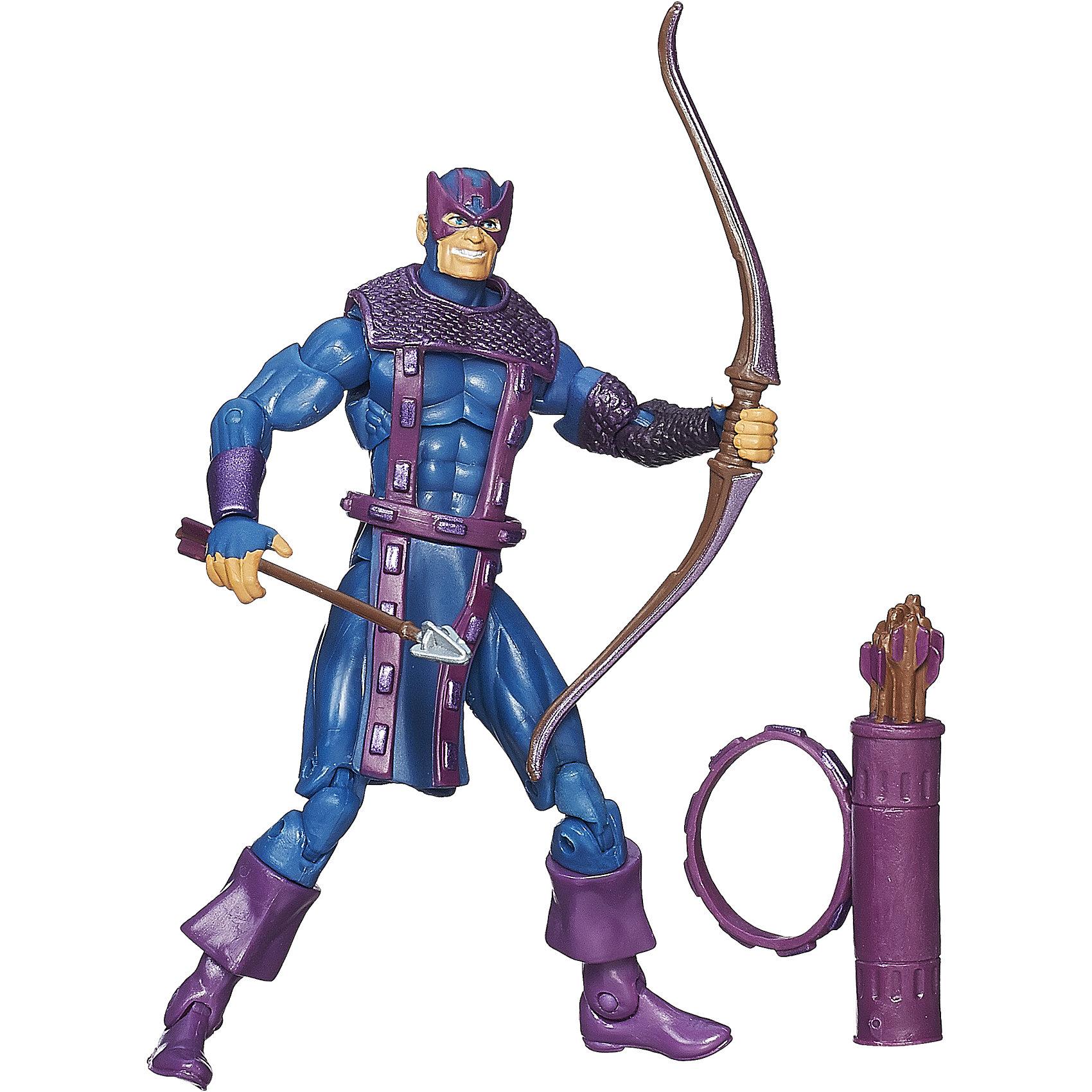 Коллекционная фигурка Марвел- Соколиный глаз, 9,5 см, Marvel HeroesКоллекционные и игровые фигурки<br>Эта коллекционная фигурка приведет в восторг любого мальчишку! Соколиный глаз — член команды мстителей и отменный стрелок. Он мастерски умеет пользоваться луком и арбалетом, а его великолепное зрение позволяет ему всегда попадать в цель. Собери все фигурки и устрой настоящую битву.<br><br>Дополнительная информация:<br><br>- Материал: пластик.<br>- Голова, ноги, руки фигурки подвижные.<br>- Размер: 9,5 см.<br><br>Коллекционную фигурку Марвел - Соколиный глаз, 9,5 см, Marvel Heroes, можно купить в нашем магазине.<br><br>Ширина мм: 51<br>Глубина мм: 121<br>Высота мм: 229<br>Вес г: 150<br>Возраст от месяцев: 48<br>Возраст до месяцев: 144<br>Пол: Мужской<br>Возраст: Детский<br>SKU: 4175042