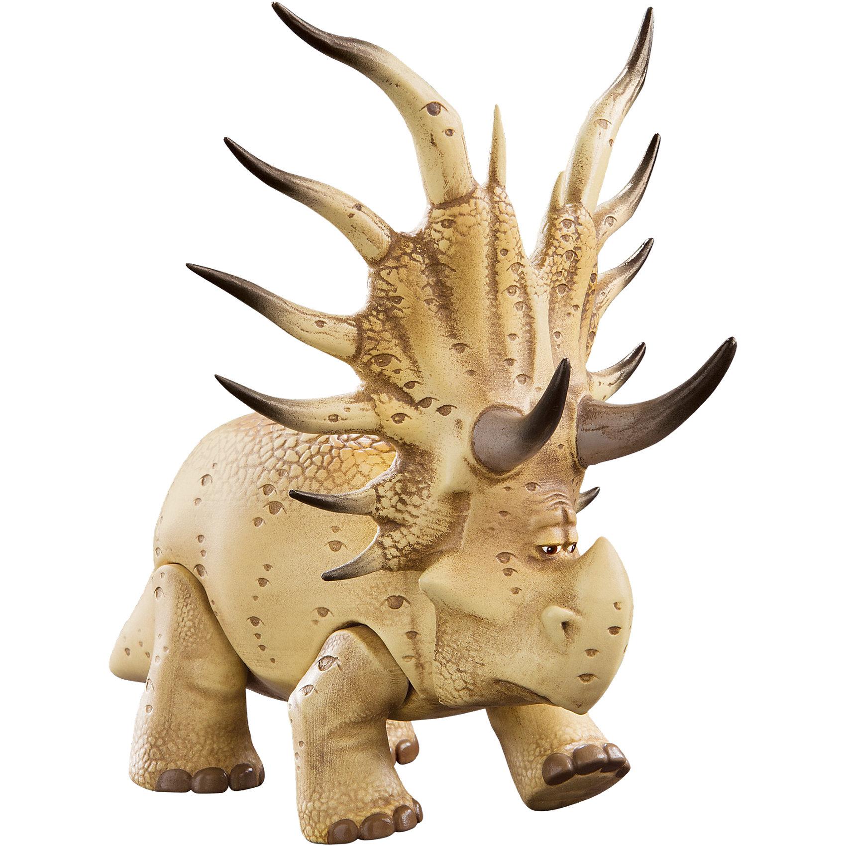Подвижная фигурка  лесной Аконтофиопс, средняя, Хороший ДинозаврПодвижная фигурка Лесной Аконтофиопс, Хороший Динозавр, создана по мотивам нового мультфильма Хороший Динозавр (The Good Dinosaur) о необыкновенных приключениях милого и доброго динозаврика Арло. По сюжету мультфильма земная цивилизация стала развиваться альтернативным путем: динозавры не вымерли, а живут среди людей, и умом даже превосходят последних. Внешний вид фигурки полностью повторяет своего персонажа, это необычного вида таинственный ящер-шаман, живущий в чаще леса, его ветвистые рога являются домом для множества мелких зверьков. У игрушки множество подвижных элементов: двигаются лапы, вращается голова, открывается пасть. В комплект также входит зверек шамана с подвижными частями тела. Собрав фигурки героев мультика Ваш ребенок сможет вновь воссоздать все самые интересные эпизоды фантастической истории или придумать новые.<br><br>Дополнительная информация:<br><br>- В комплекте: фигурка Лесного Аконтофиопса, зверек шамана.<br>- Материал: пластик.<br>- Размер упаковки: 25 х 10 х 23 см.<br>- Вес: 0,39 кг.<br><br>Подвижную фигурку Лесной Аконтофиопс, среднюю, Хороший Динозавр, можно купить в нашем интернет-магазине.<br><br>Ширина мм: 263<br>Глубина мм: 238<br>Высота мм: 134<br>Вес г: 403<br>Возраст от месяцев: 36<br>Возраст до месяцев: 72<br>Пол: Мужской<br>Возраст: Детский<br>SKU: 4175280