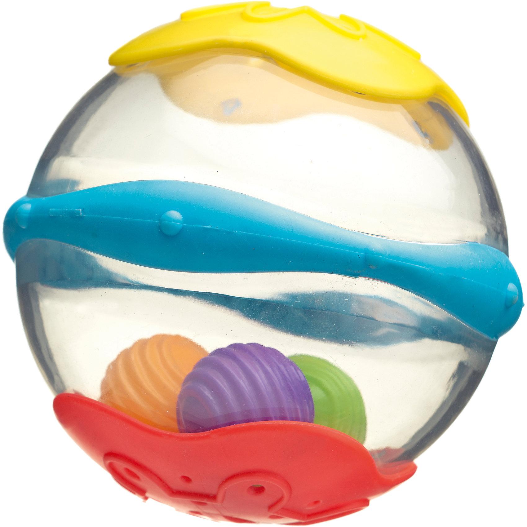 Игрушка для ванны Мяч, PlaygroИгрушки ПВХ<br>Эта игрушка идеально подходит для развлечений в ванной комнате. Внутри мячика находятся разноцветные шарики, которые гремят при встряхивании, а по бокам расположены отверстия для слива воды. Во время игры с мячиком купание превратится в настоящее удовольствие для малыша.<br><br>Дополнительная информация:<br><br>- Возраст: от 6 месяцев до 3 лет<br>- Материал: пластик<br>- Размер: 19х15х9 см<br>- Вес: 0.24 кг<br><br>Игрушку для ванны Мяч, Playgro можно купить в нашем интернет-магазине.<br><br>Ширина мм: 197<br>Глубина мм: 154<br>Высота мм: 109<br>Вес г: 138<br>Возраст от месяцев: 6<br>Возраст до месяцев: 36<br>Пол: Унисекс<br>Возраст: Детский<br>SKU: 4176185
