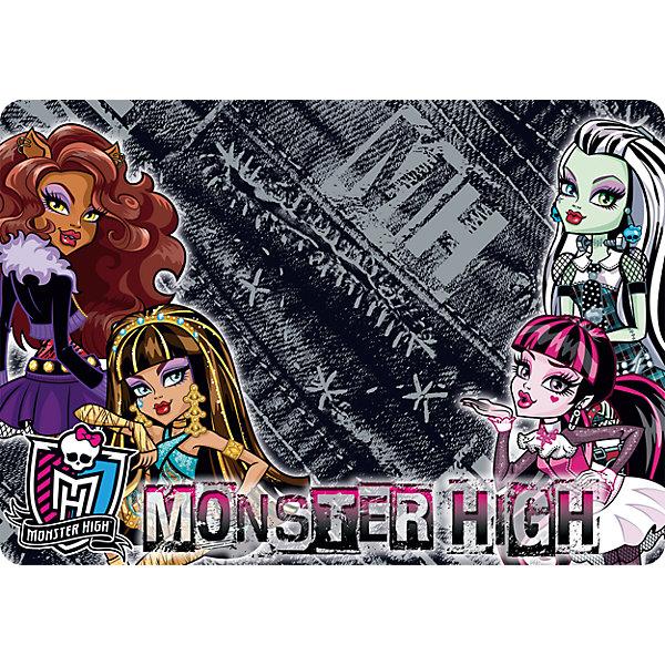 Подкладка А4 Monster High для лепки и рисованияАксессуары<br>Подкладка на стол для лепки и рисования А4 формата. Используется как покрытие на стол, предохраняет поверхность рабочего стола от различных повреждений и загрязнений.<br><br>Дополнительная информация:<br><br>Размер: 21 х 30 см.<br><br>Подкладку А4 Monster High (Школа Монстров) для лепки и рисования можно купить в нашем магазине.<br>Ширина мм: 210; Глубина мм: 300; Высота мм: 2; Вес г: 40; Возраст от месяцев: 36; Возраст до месяцев: 144; Пол: Женский; Возраст: Детский; SKU: 4177201;