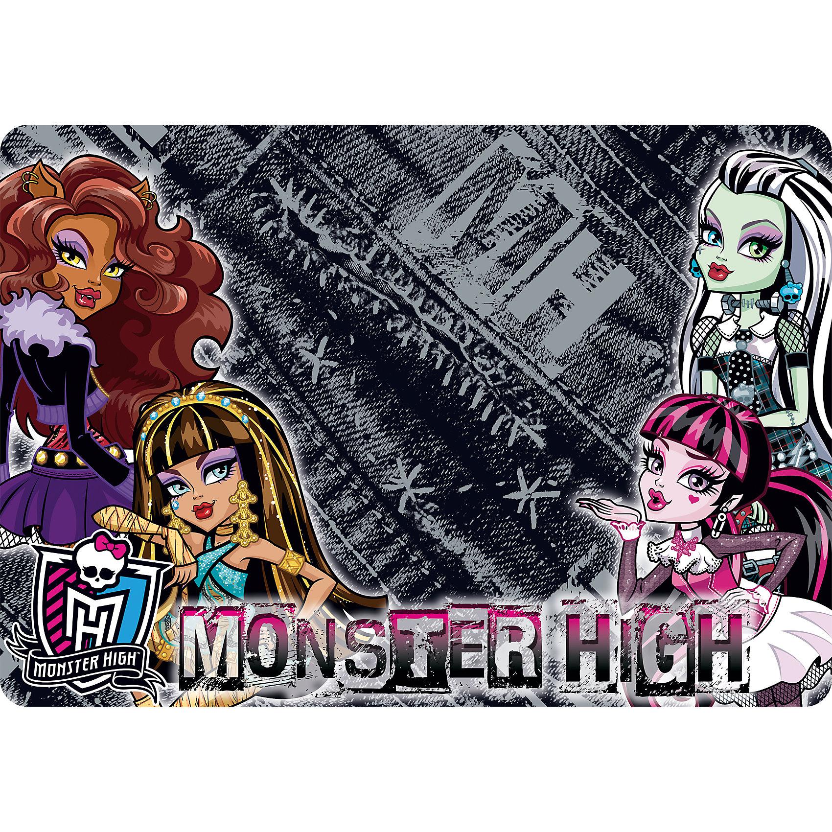 Подкладка А4 Monster High для лепки и рисованияАксессуары<br>Подкладка на стол для лепки и рисования А4 формата. Используется как покрытие на стол, предохраняет поверхность рабочего стола от различных повреждений и загрязнений.<br><br>Дополнительная информация:<br><br>Размер: 21 х 30 см.<br><br>Подкладку А4 Monster High (Школа Монстров) для лепки и рисования можно купить в нашем магазине.<br><br>Ширина мм: 210<br>Глубина мм: 300<br>Высота мм: 2<br>Вес г: 40<br>Возраст от месяцев: 36<br>Возраст до месяцев: 144<br>Пол: Женский<br>Возраст: Детский<br>SKU: 4177201