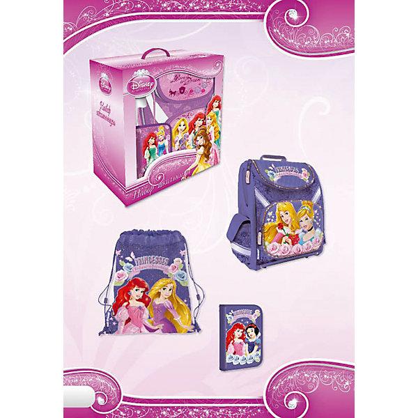 Школьный набор Принцессы Дисней (Эргономичный ранец, мешок для обуви, пенал)Принцессы Сумки и рюкзаки<br>Все для школы в одном месте - это набор школьника! В нем собраны предметы, которые станут незаменимыми в учебе ребенка: ранец профилактический с эргономической спинкой, пенал, сумка-рюкзак для обуви. Все комплектующие выполнены в одном дизайне и иллюстрированы любимыми героями. Сделайте подарок себе и своему ребенку!<br><br>Дополнительная информация:<br><br>Размер: 38 х 21 х 43 см.<br>Состав набора: ранец профилактический с эргономической спинкой, пенал, сумка-рюкзак для обуви.<br><br>Набор Принцессы Дисней (Disney Princess) (эргономический ранец, мешок для обуви, пенал) можно купить в нашем магазине.<br>Ширина мм: 380; Глубина мм: 210; Высота мм: 430; Вес г: 1675; Возраст от месяцев: 48; Возраст до месяцев: 108; Пол: Женский; Возраст: Детский; SKU: 4177207;