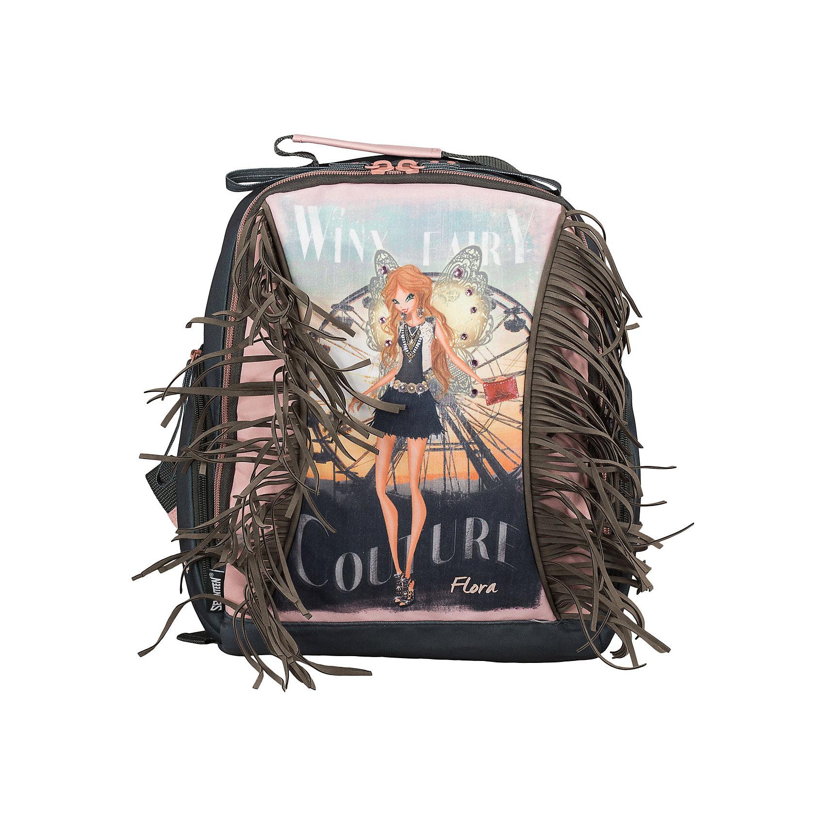 Школьный рюкзак Winx Fairy Couture с усиленной спинкой, Winx ClubРюкзак на молнии изготовлен из водостойкого, износостойкого материала. Дно и корпус рюкзака мягкие. Спинка усилена поролоном. На фронтальной части есть текстильный кант, в который вставлен пластик, для придания формы рюкзаку. Одно большое вместительное отделение с навесным карманом на молнии. Лямки специальной S-образной формы, регулируемые по длине с поролоновыми вставками и воздухообменным сетчатым материалом. По бокам расположены карманы, закрывающиеся на молнию. Рюкзак снабжен текстильной ручкой.<br><br>Дополнительная информация:<br><br>Размер: 35 х 31 х 14 см.<br><br>Мягкий рюкзак Winx Fairy Couture с усиленной спинкой, Winx Club (Клуб Винкс: Школа волшебниц) можно купить в нашем магазине.<br><br>Ширина мм: 350<br>Глубина мм: 310<br>Высота мм: 140<br>Вес г: 450<br>Возраст от месяцев: 72<br>Возраст до месяцев: 144<br>Пол: Женский<br>Возраст: Детский<br>SKU: 4177249