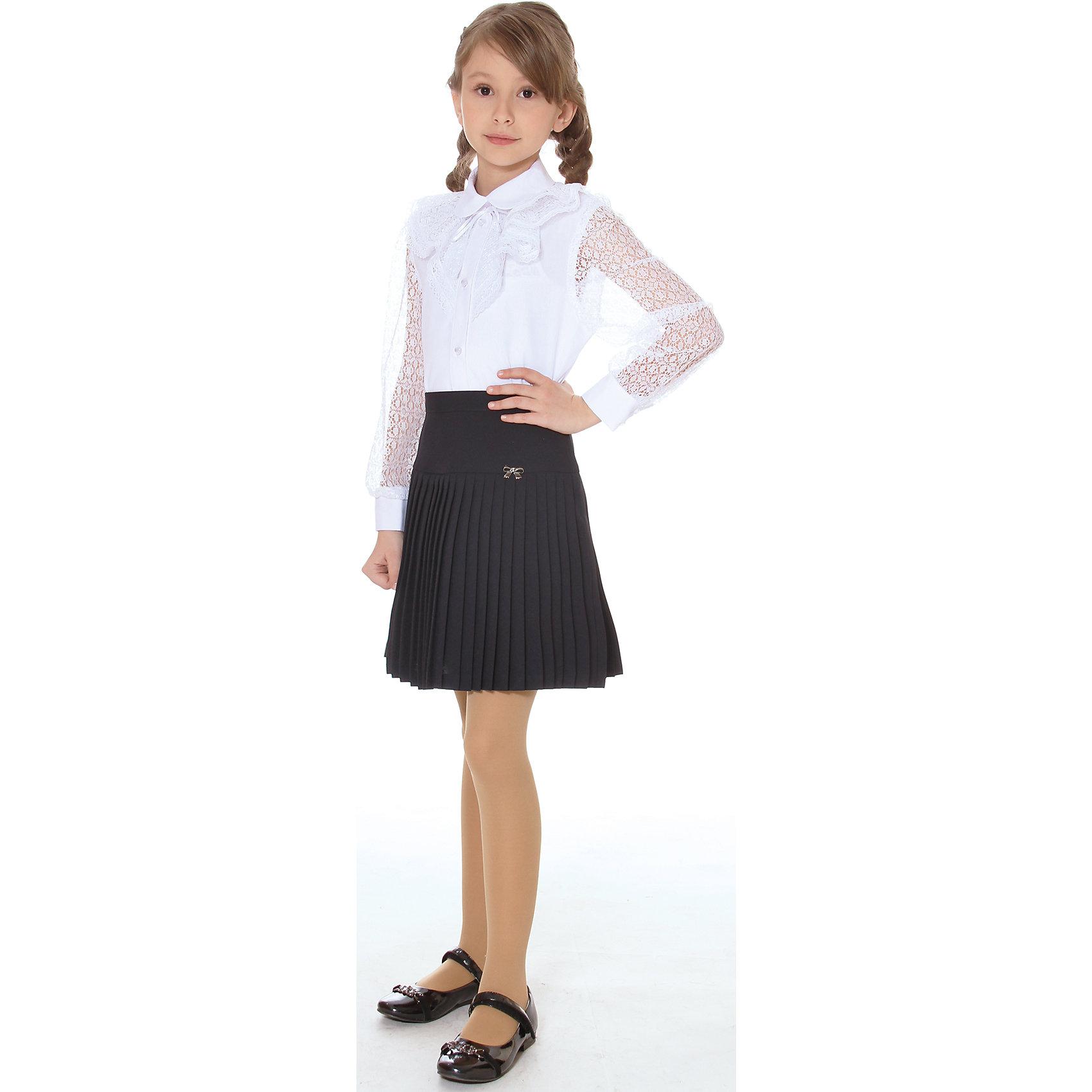 Юбка для девочки СменаЮбки<br>Юбка для девочки от российской марки Смена.<br>Элегантная плиссированная юбка с кокетой на поясе, дополненная декоративным элементом.<br>Состав:<br>100%  полиэстер<br><br>Ширина мм: 207<br>Глубина мм: 10<br>Высота мм: 189<br>Вес г: 183<br>Цвет: серый<br>Возраст от месяцев: 72<br>Возраст до месяцев: 84<br>Пол: Женский<br>Возраст: Детский<br>Размер: 122,146,158,152,134,128<br>SKU: 4177329