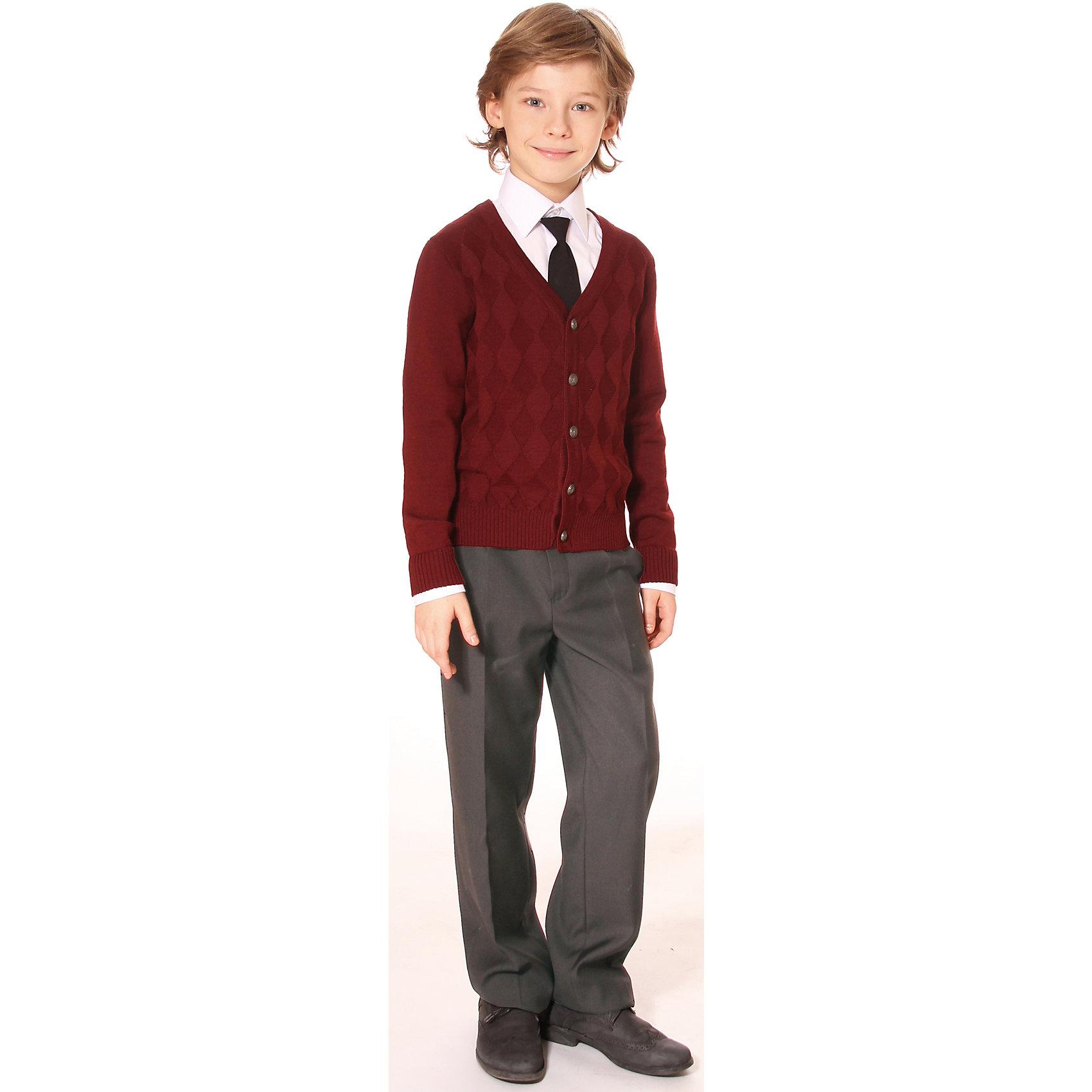 Брюки для мальчика СменаБрюки<br>Брюки для мальчика от российской марки  Смена.<br>Удобные классические брюки для мальчика с регулировкой ширины по талии.<br>Состав:<br>50%  шерсть, 50%  вискоза<br><br>Ширина мм: 215<br>Глубина мм: 88<br>Высота мм: 191<br>Вес г: 336<br>Цвет: серый<br>Возраст от месяцев: 132<br>Возраст до месяцев: 144<br>Пол: Мужской<br>Возраст: Детский<br>Размер: 152,122,134,140,128<br>SKU: 4177415