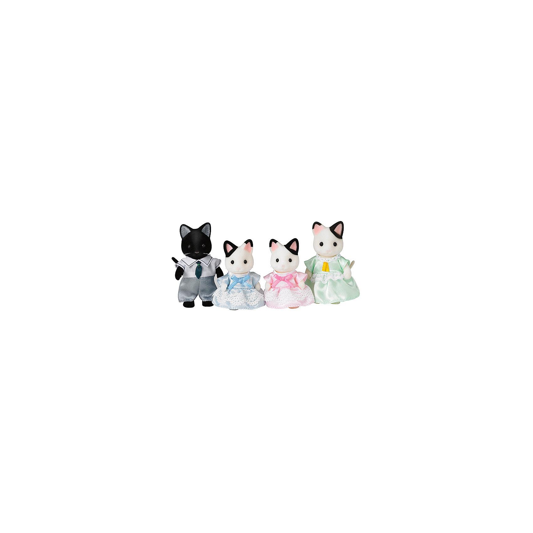 - Набор Семья Чёрно-белых котов, Sylvanian Families игровая фигурка sylvanian families набор семья белых мышей
