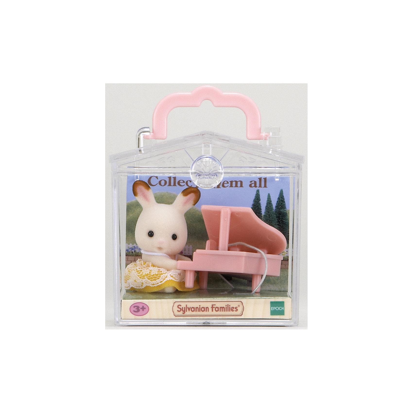 """Набор """"Младенец в пластиковом сундучке """" (кролик и рояль), Sylvanian Families от myToys"""